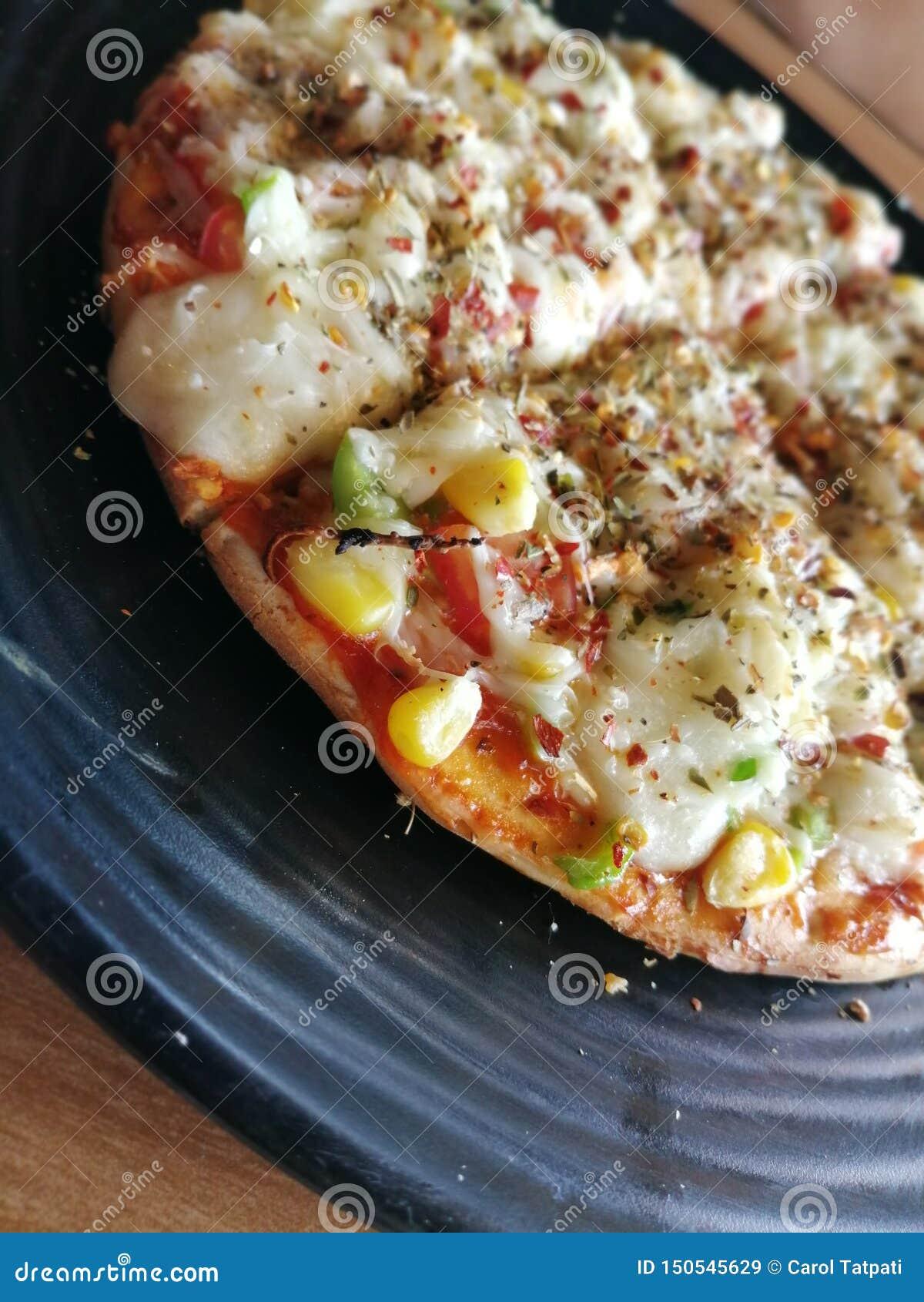 La pizza mexicana de Peper de los chiles sirvió en Pizza Hut, Tejas