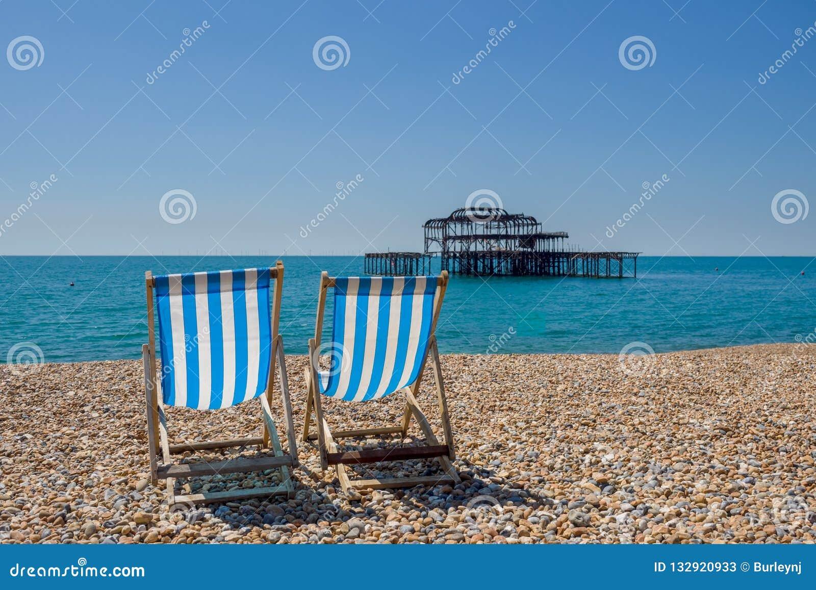 La plage à Brighton R-U