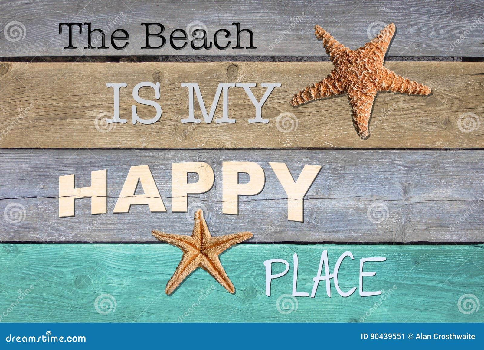 La plage est mon endroit heureux