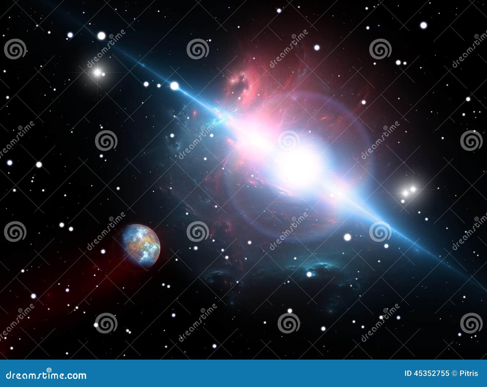 Download La Planète Satellise Le Pulsar Dans La Zone Dangereuse Illustration Stock - Illustration du danger, bleu: 45352755