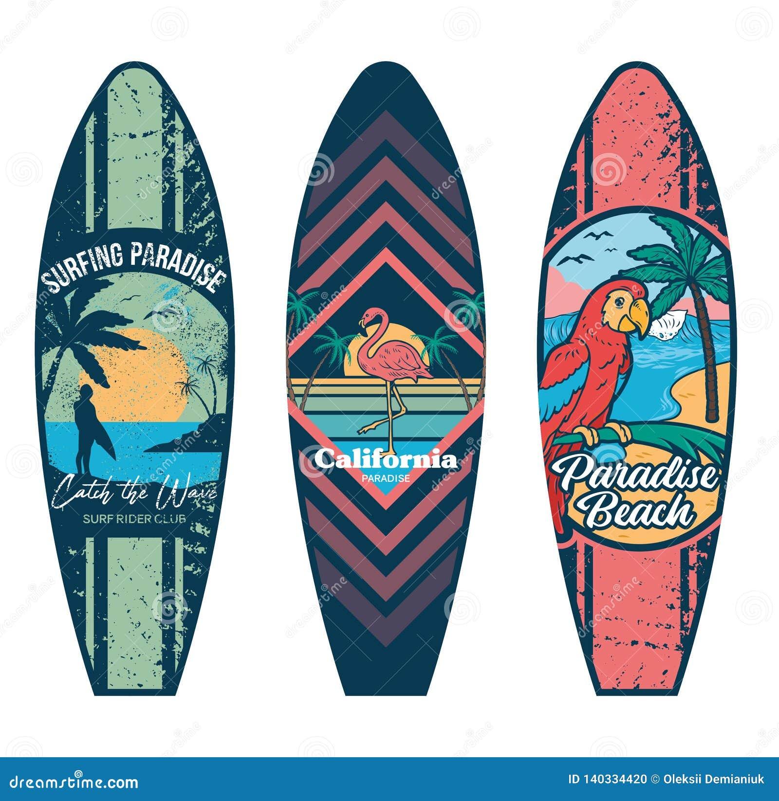 La Planche De Surf A Place Des Copies Illustration De Vecteur Illustration Du Planche Copies 140334420