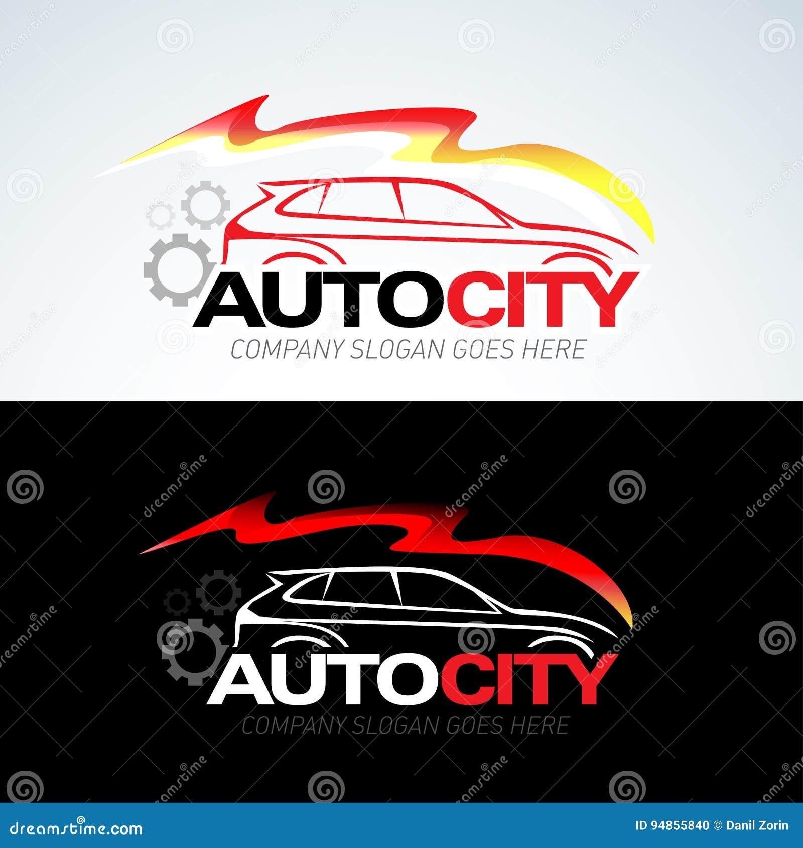 La Plantilla Auto Del Logotipo Del Coche De La Ciudad, Coches Autos ...