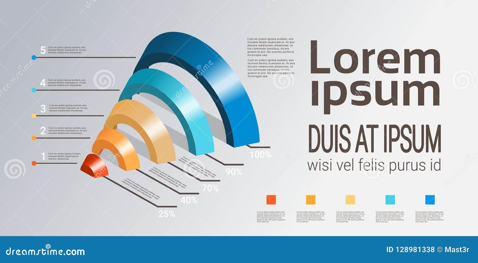 La plantilla del embudo del infographics de la carta de proceso de la cronología del negocio usada para la disposición de la pres