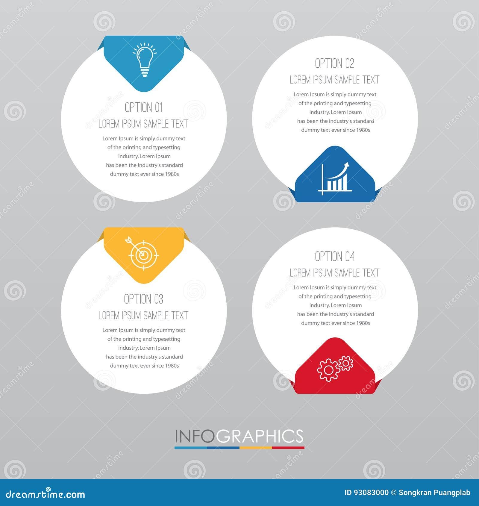 La Plantilla Moderna Del Información-gráfico Para El Negocio Con ...