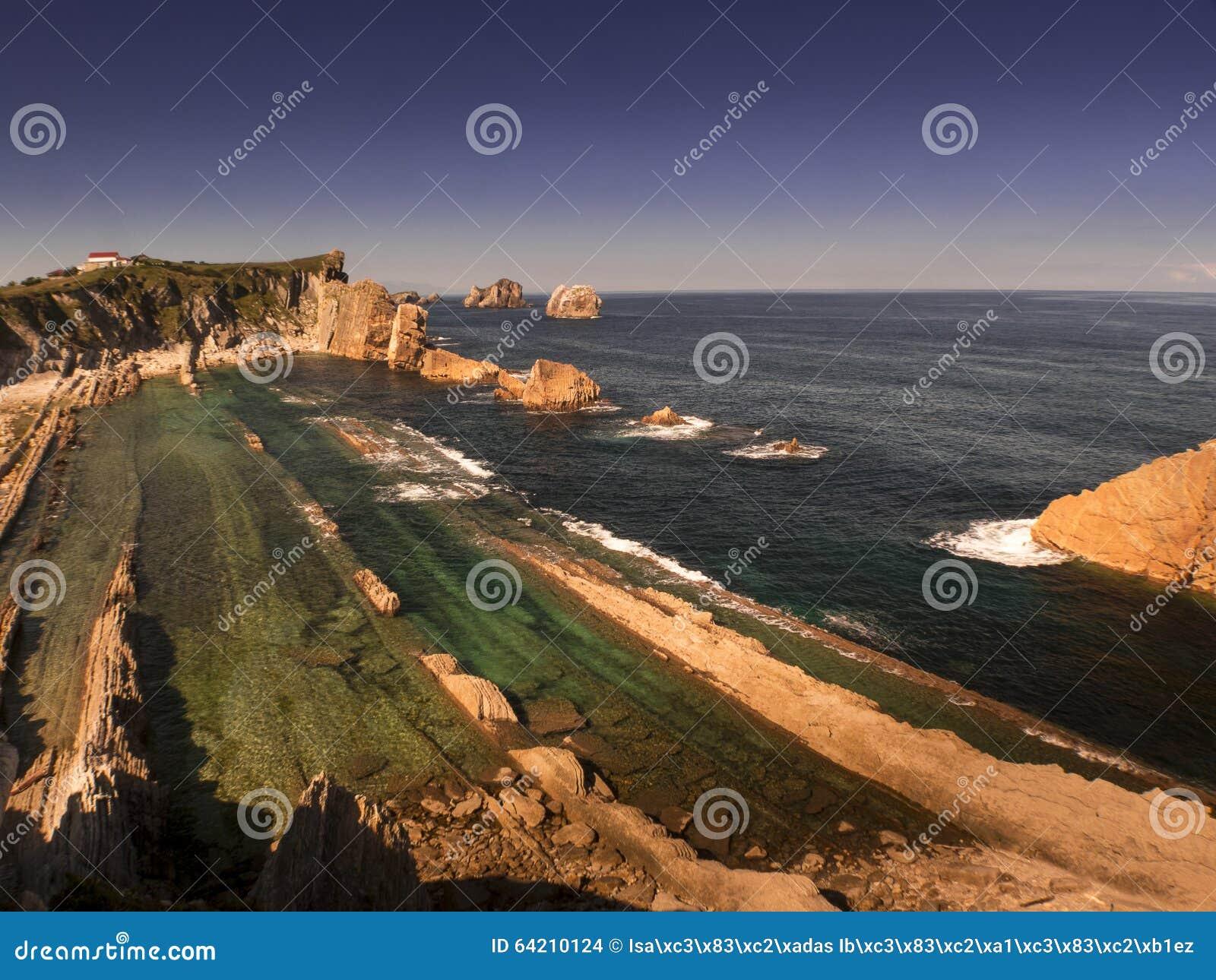 La playa de Arnia, durante la bajamar II