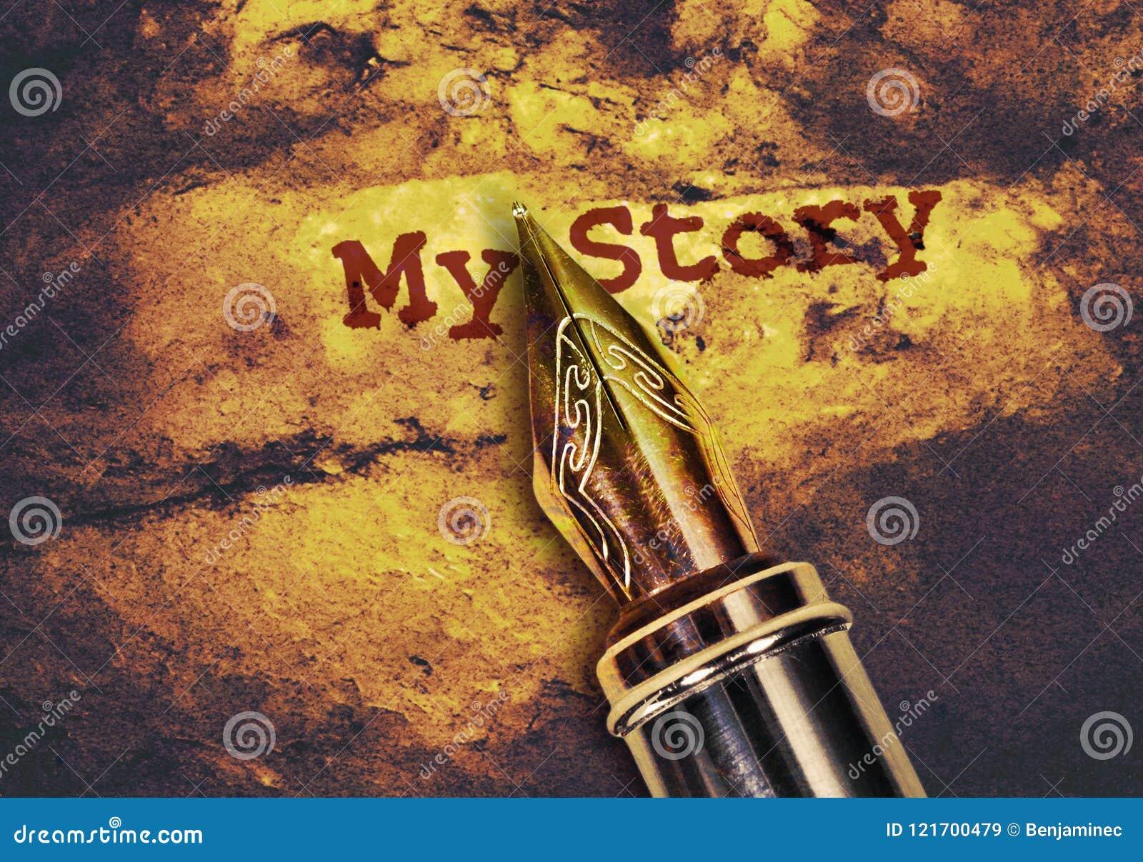 La pluma y manda un SMS a mi historia