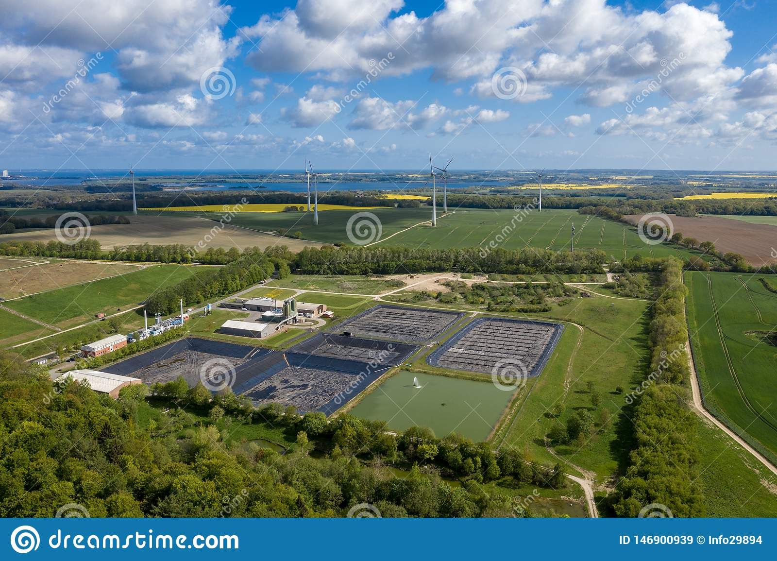 La plus grande décharge de rebut toxique Ihlenberg d Europedans le nord de l Allemagne