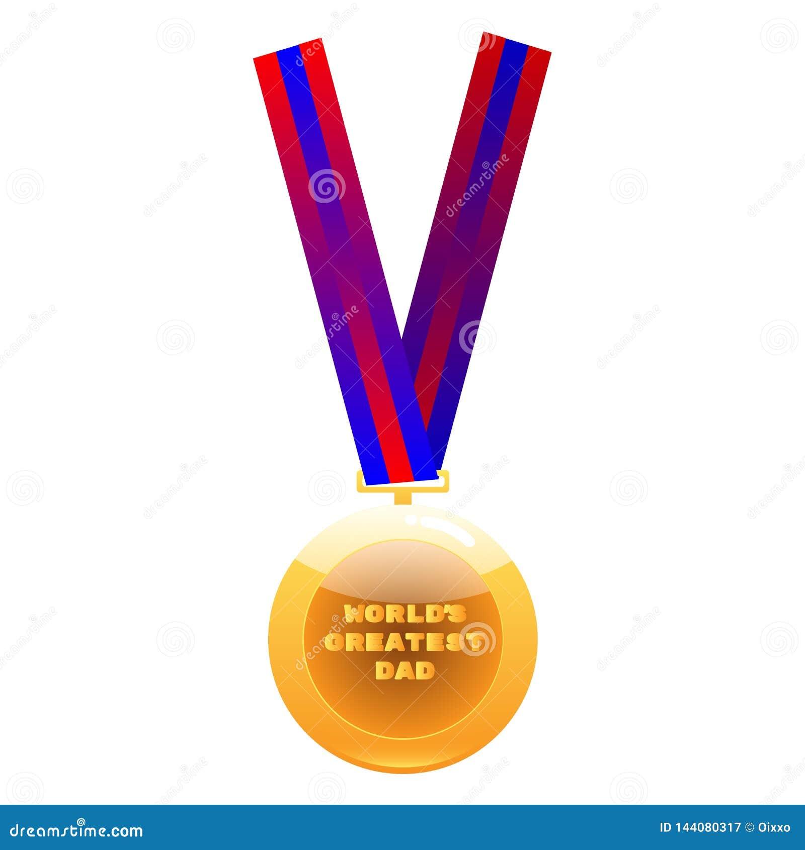 La plus grande médaille de papa du monde sur le ruban coloré