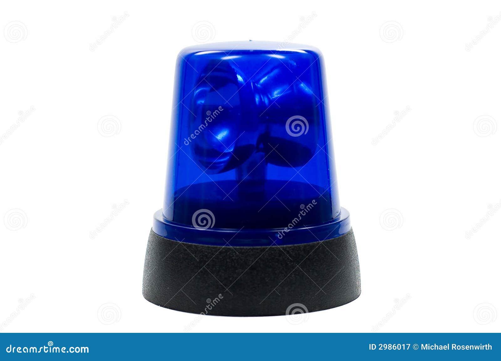 La police bleue s allume