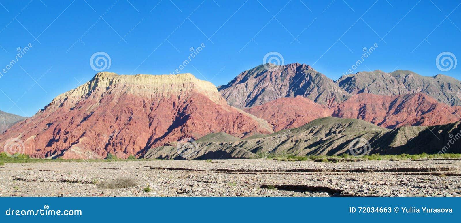 La Pollera De La Coya Red Mountain In Argentina Stock Photo
