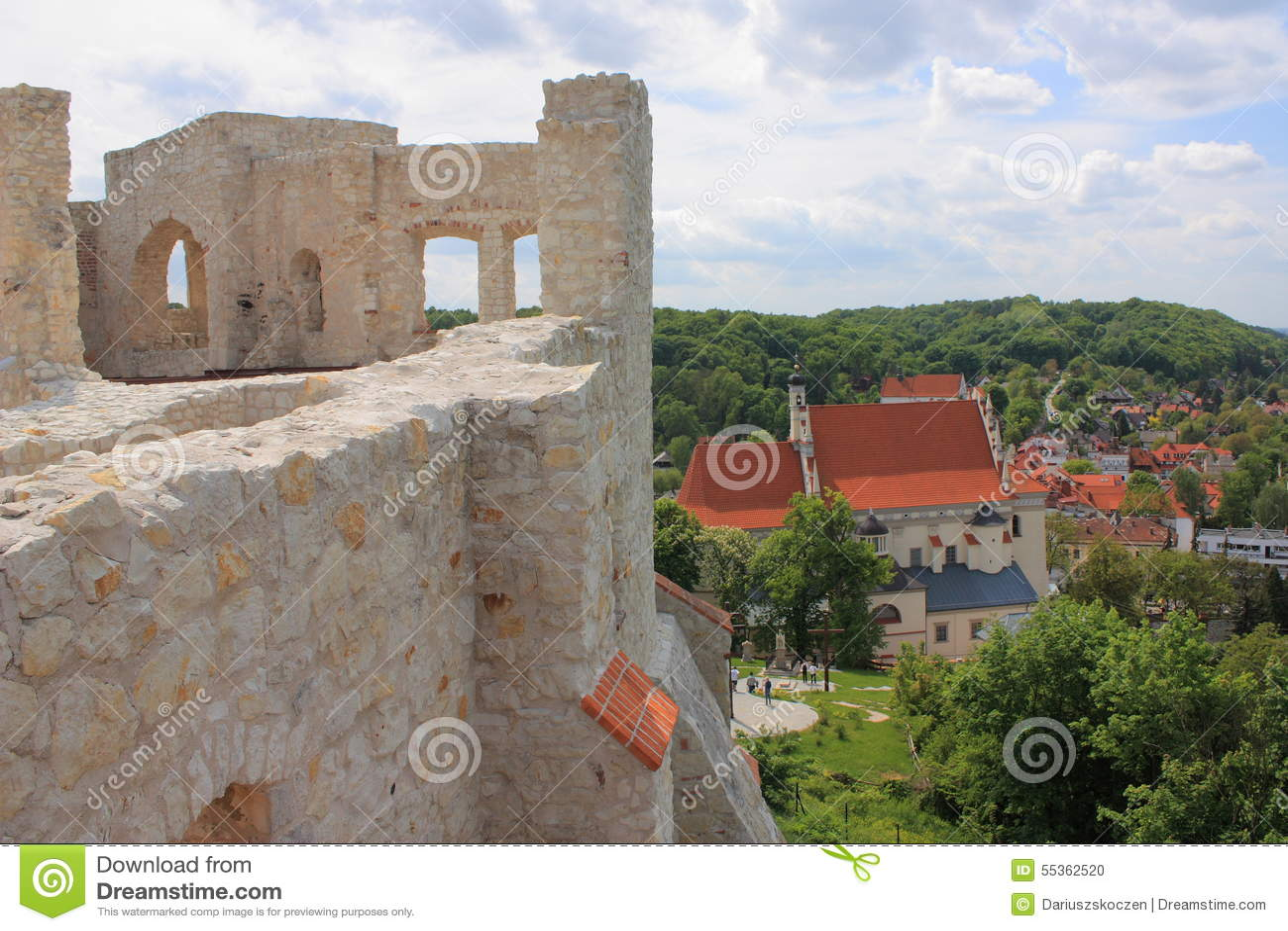 La Polonia, Kazimierz Dolny, le rovine del castello
