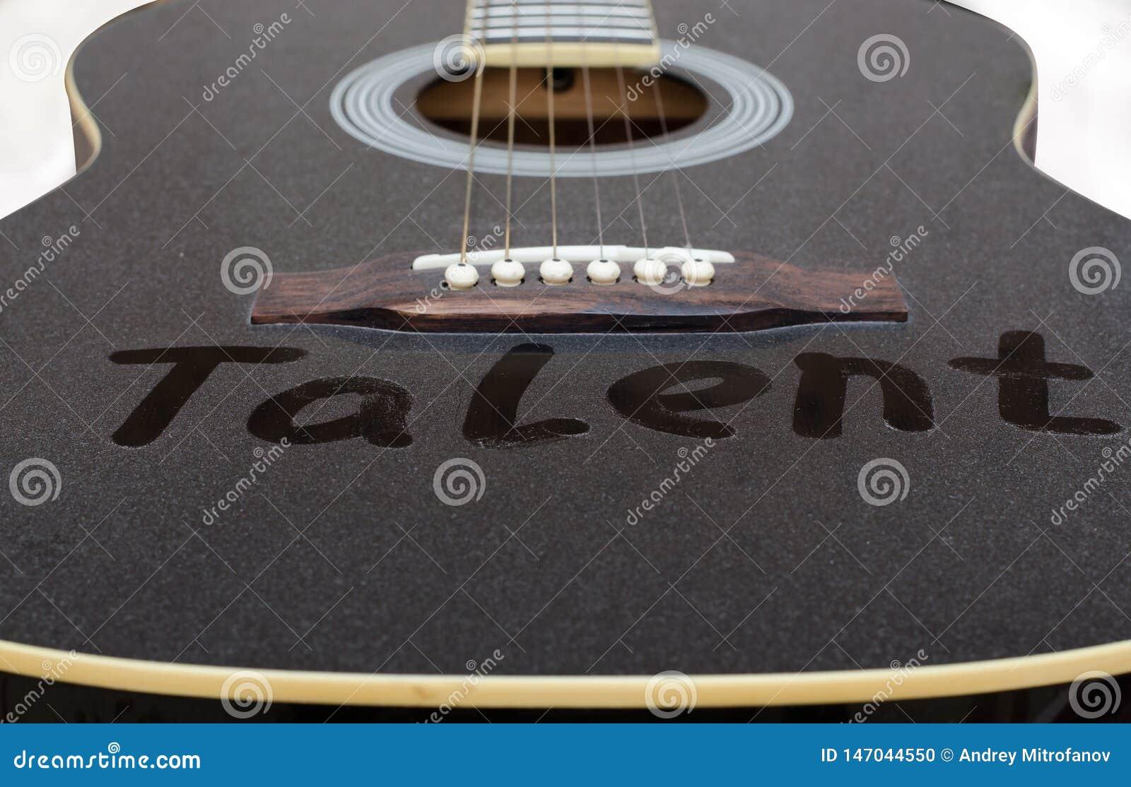 La polvere sulla chitarra Il talento dell iscrizione