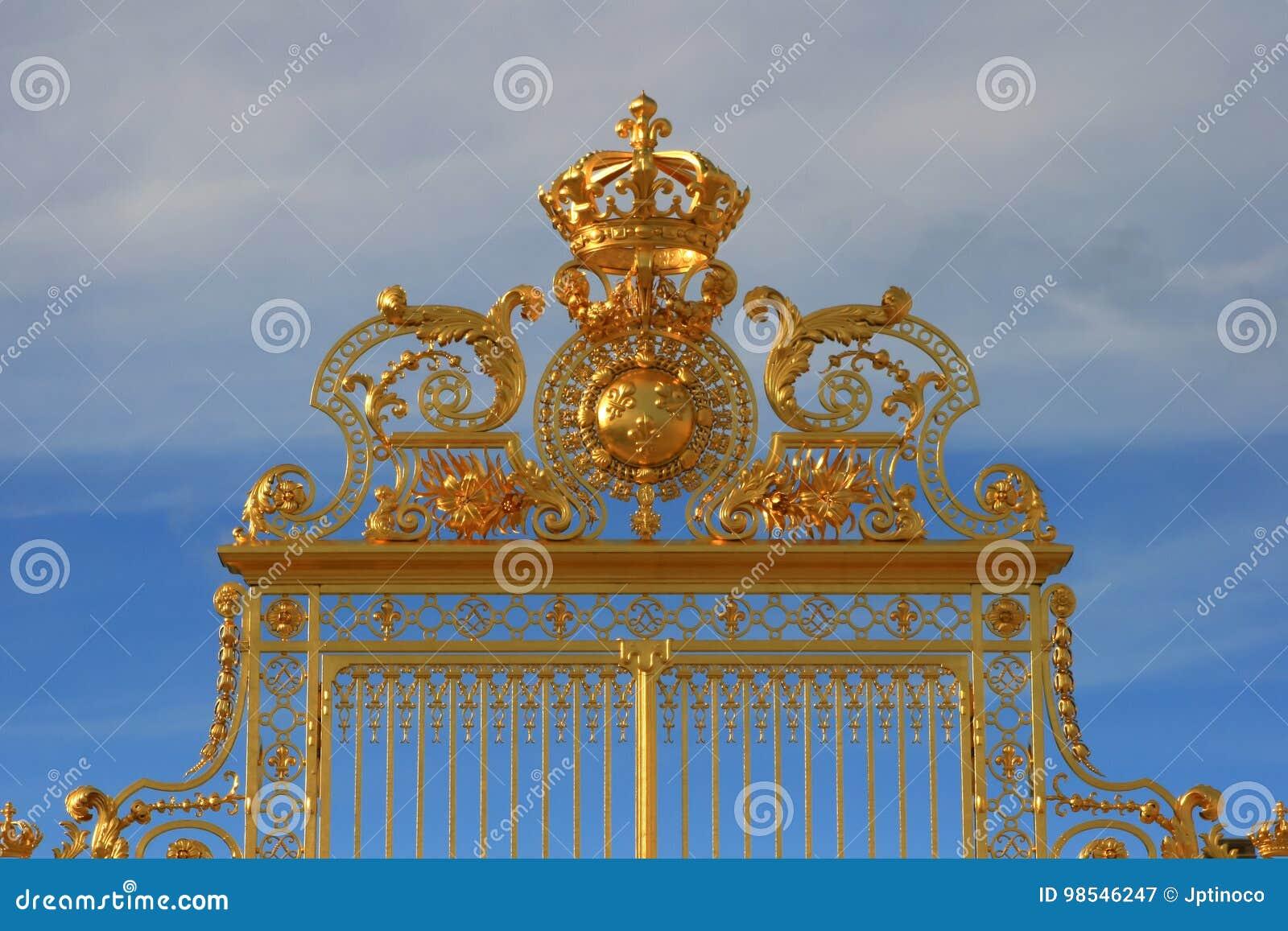 La porte d or du palais de Versailles, France