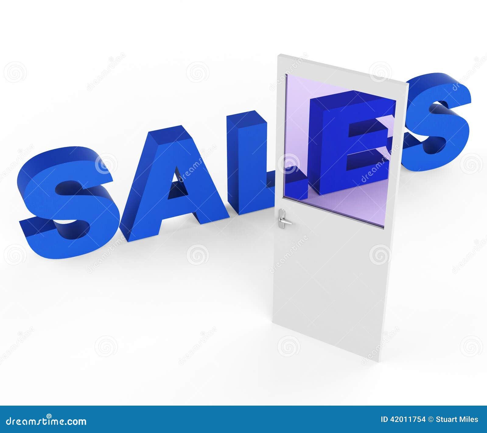 La porte de ventes repr sente le commerce lectronique et for Chambranle de la porte