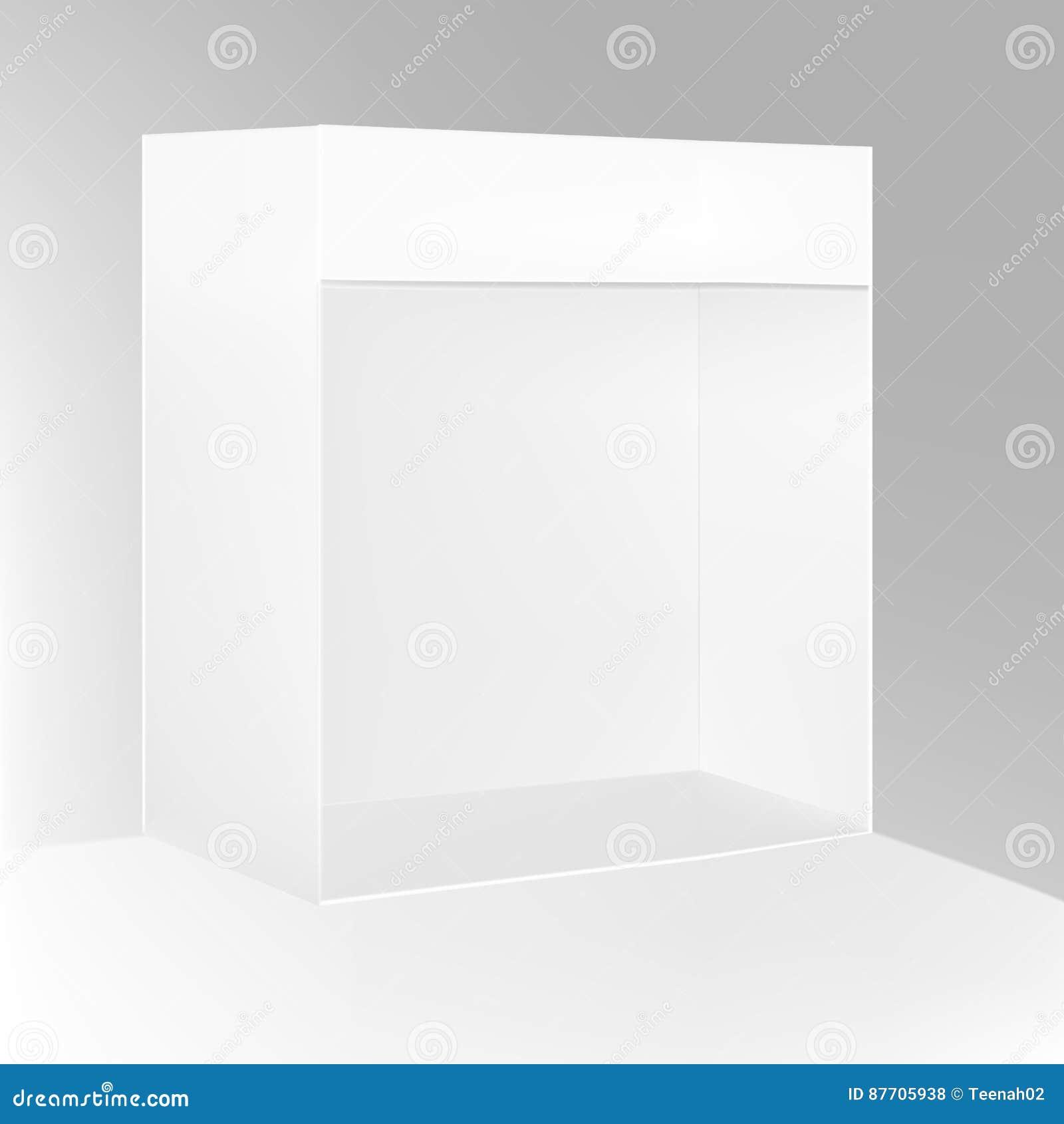 La position blanche 3D extérieur/d intérieur de POI de gris vident l affichage d étalage