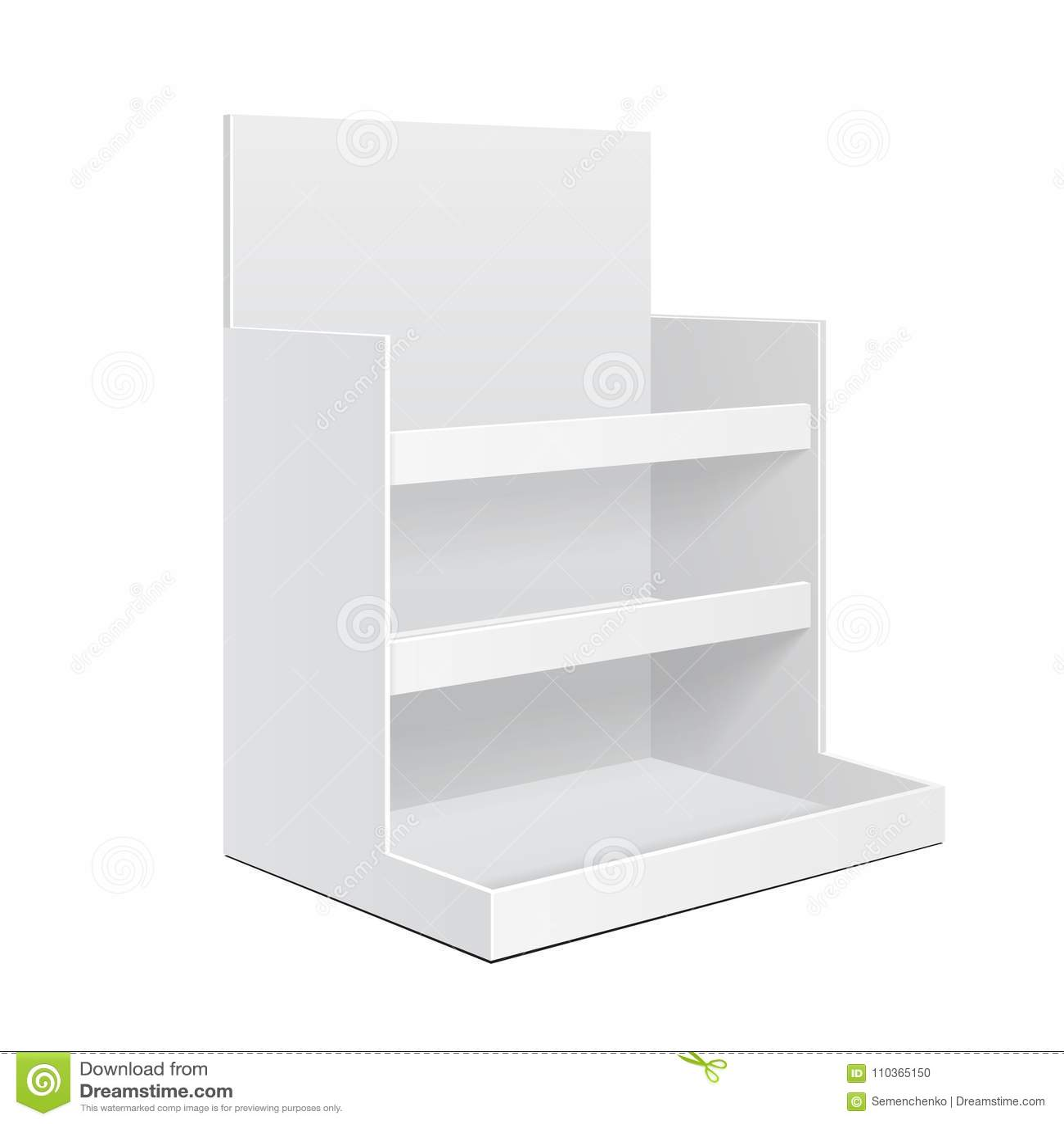 La position POI de boîte de support d étagère de compteur de carton d affichage vide vident Maquette, moquerie, calibre D isoleme