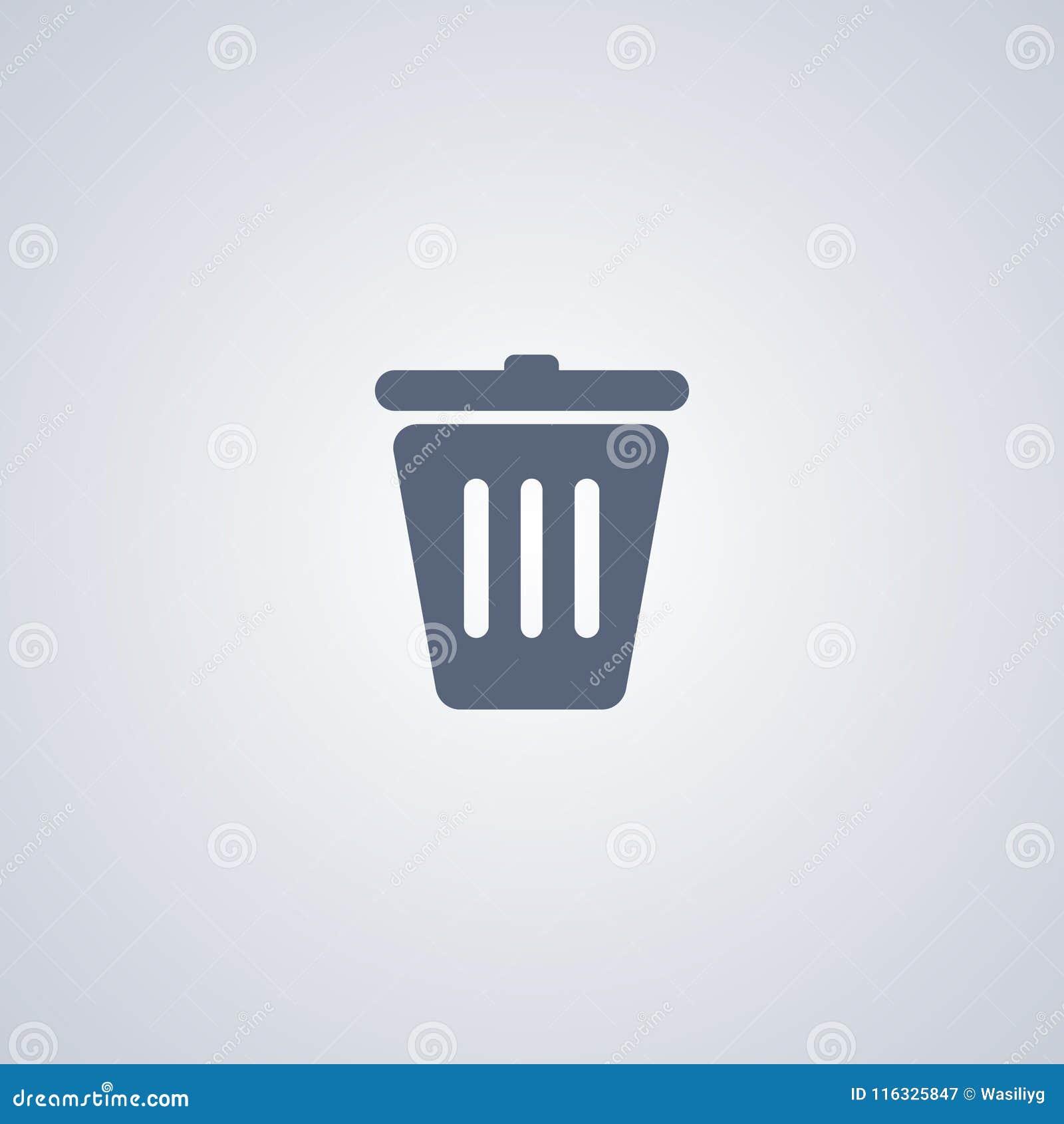 La poubelle, réutilisent, dirigent la meilleure icône plate