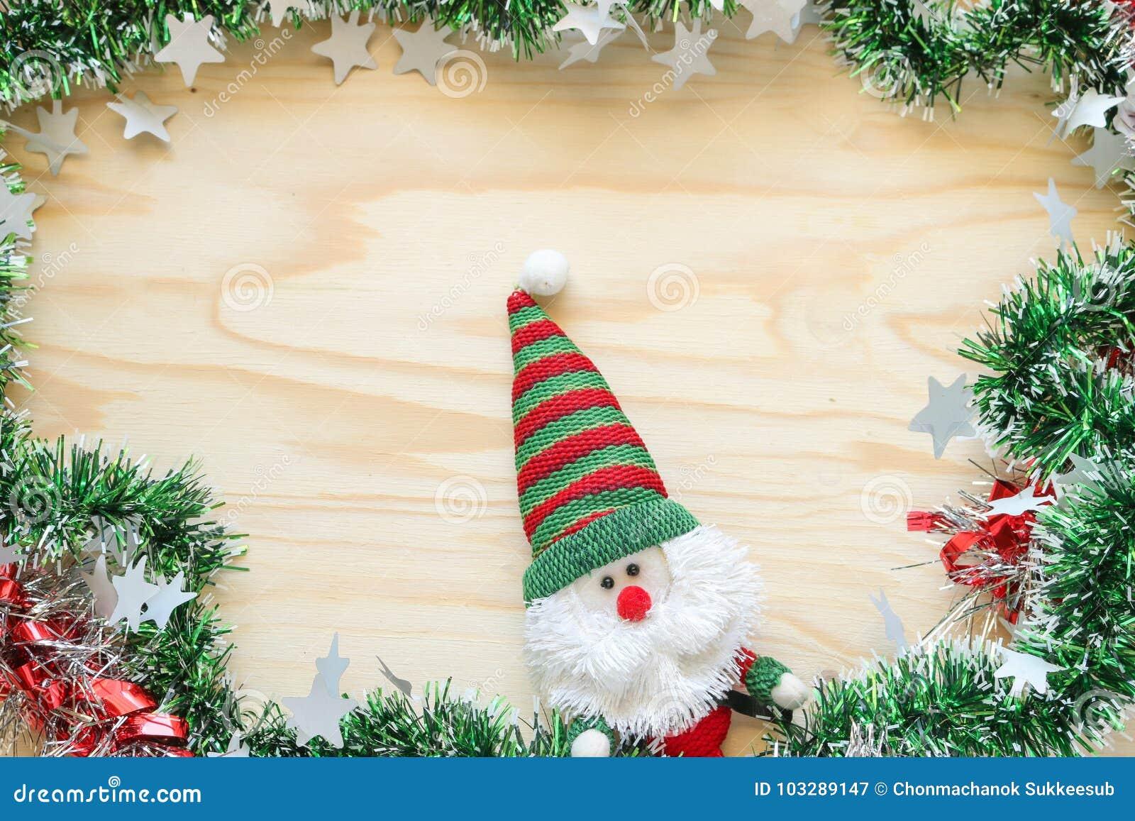 La poupée du père noël et décorent pour Noël