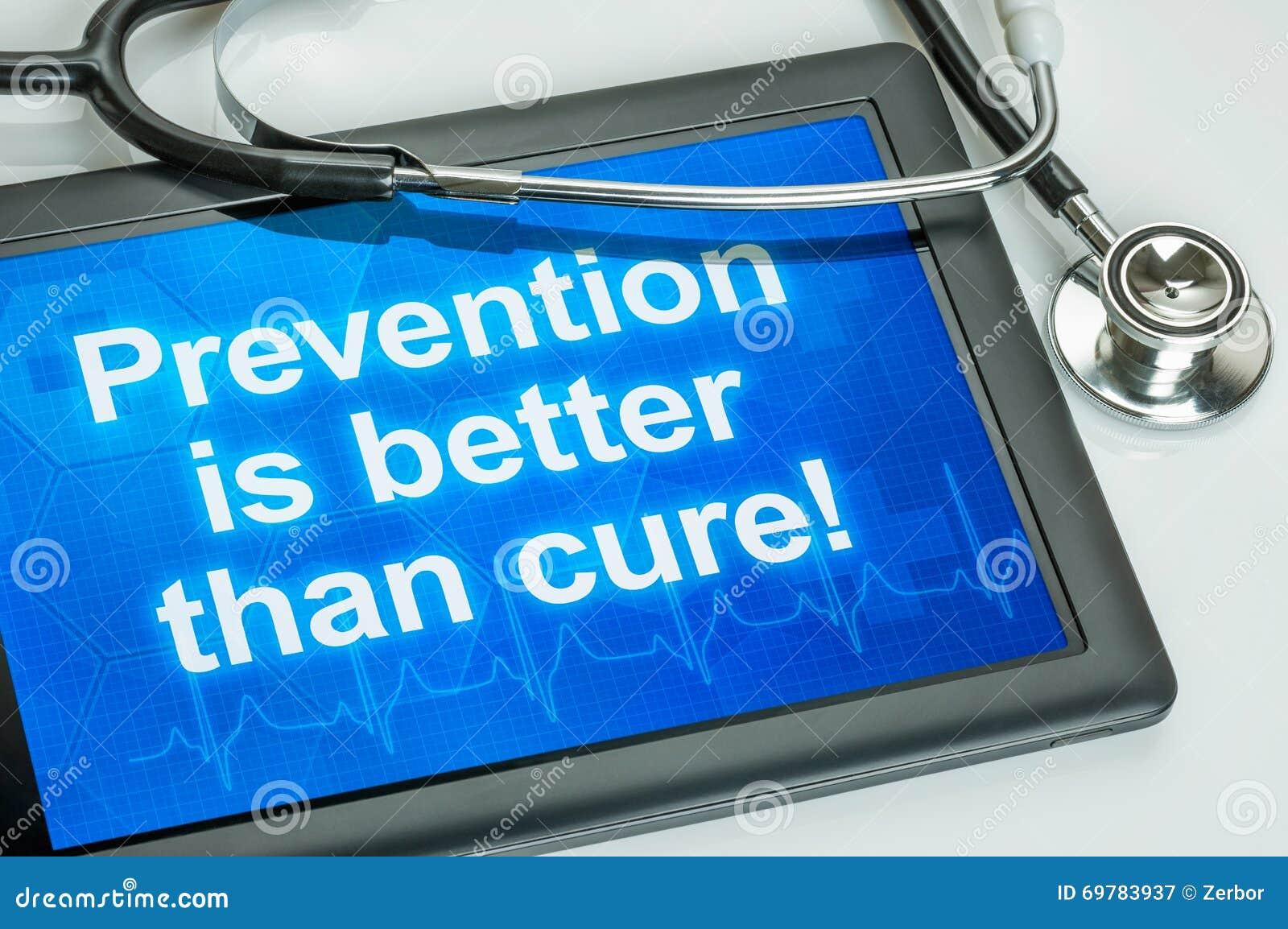 La prevención es mejor que la curación