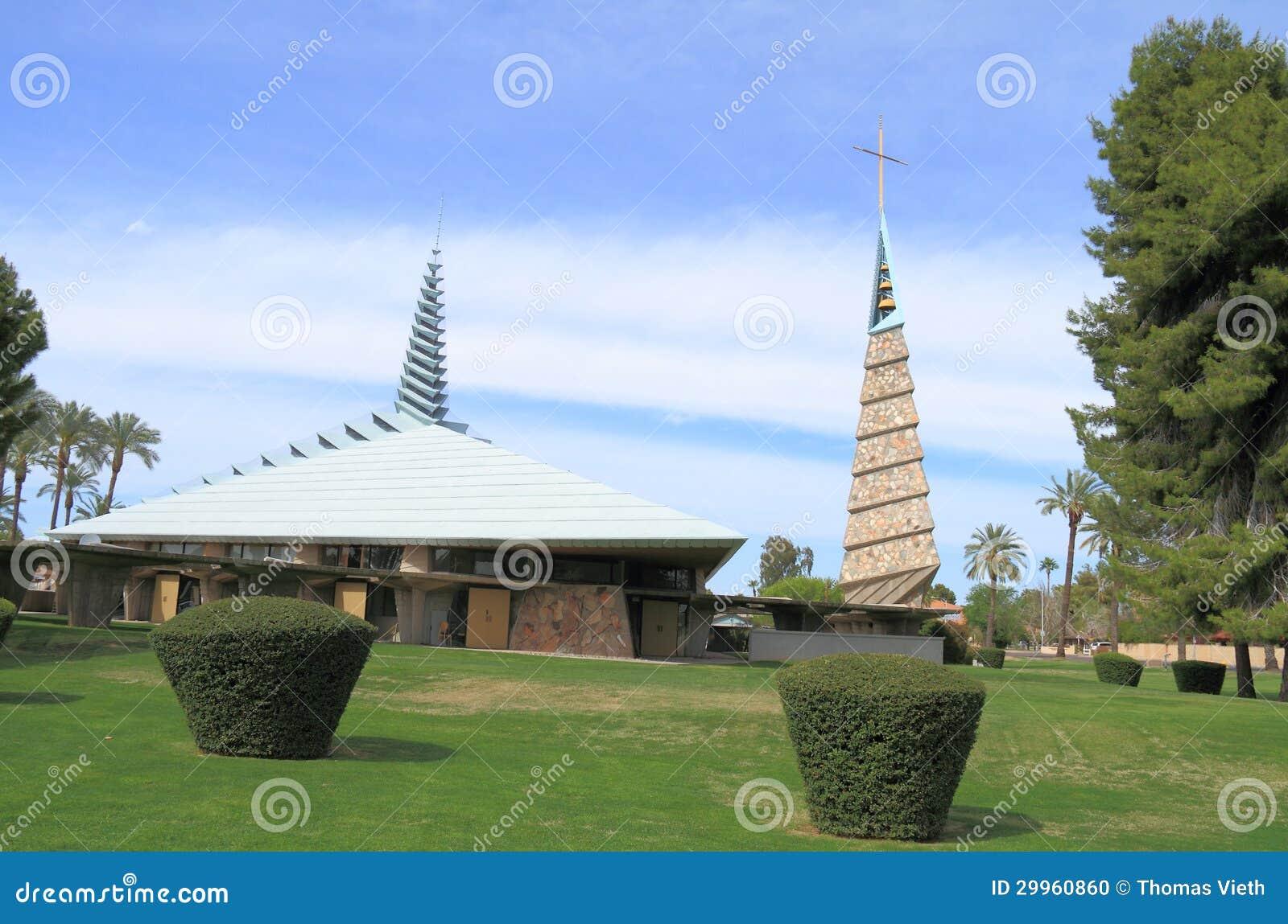 Frank lloyd wright chiesa a phoenix immagine editoriale for Franco piani di lloyd wright