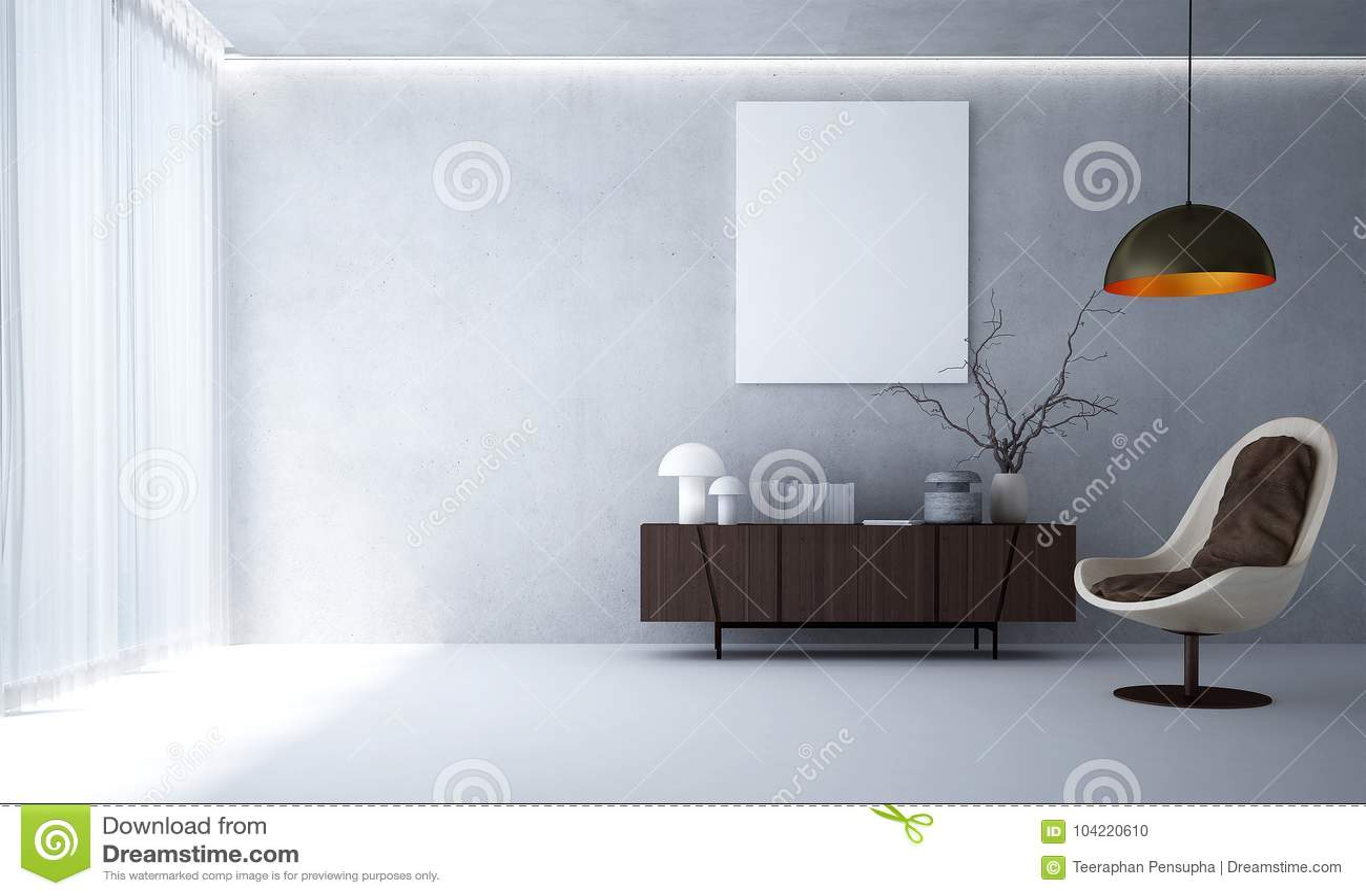 Progettazione Dinterni Gratis : La progettazione di interni del fondo moderno del muro di cemento