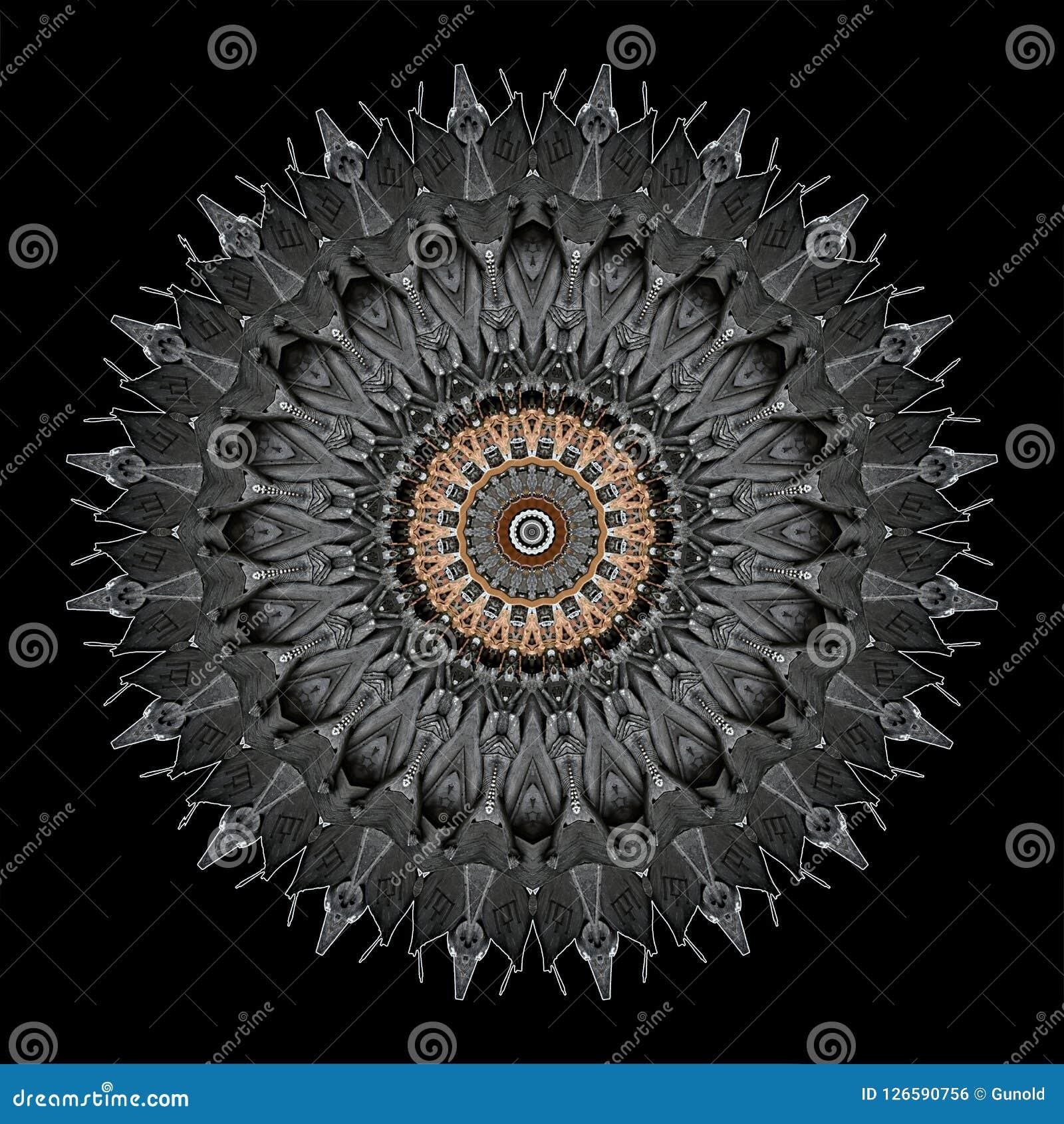 La progettazione misteriosamente digitale di arte dell ornamentale a filigrana ha scolpito il legno