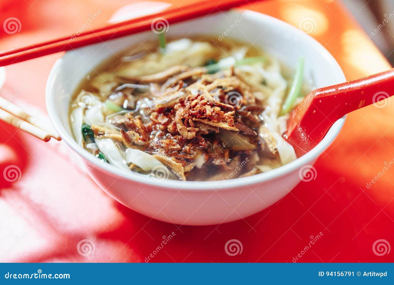 La prohibición Mian es un plato popular de los tallarines