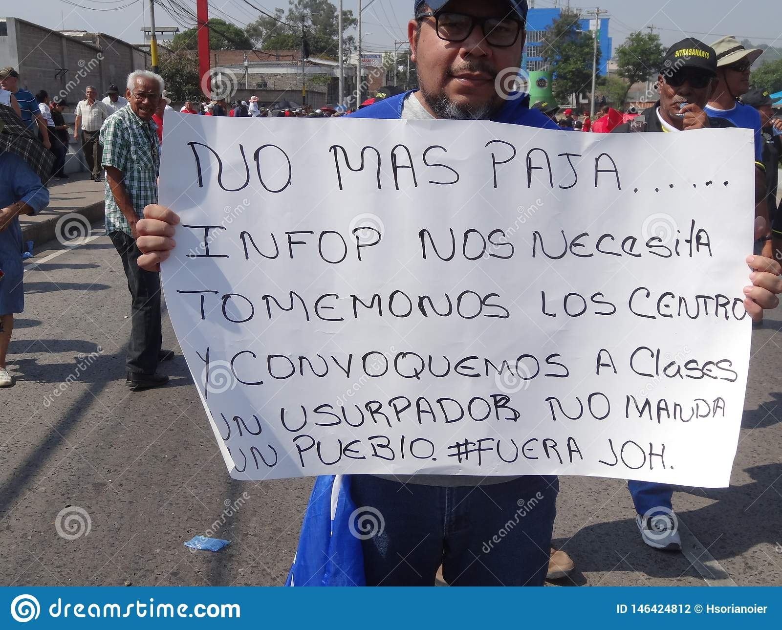 La protestation de jour de travail march Tegucigalpa le Honduras en mai 2019 20