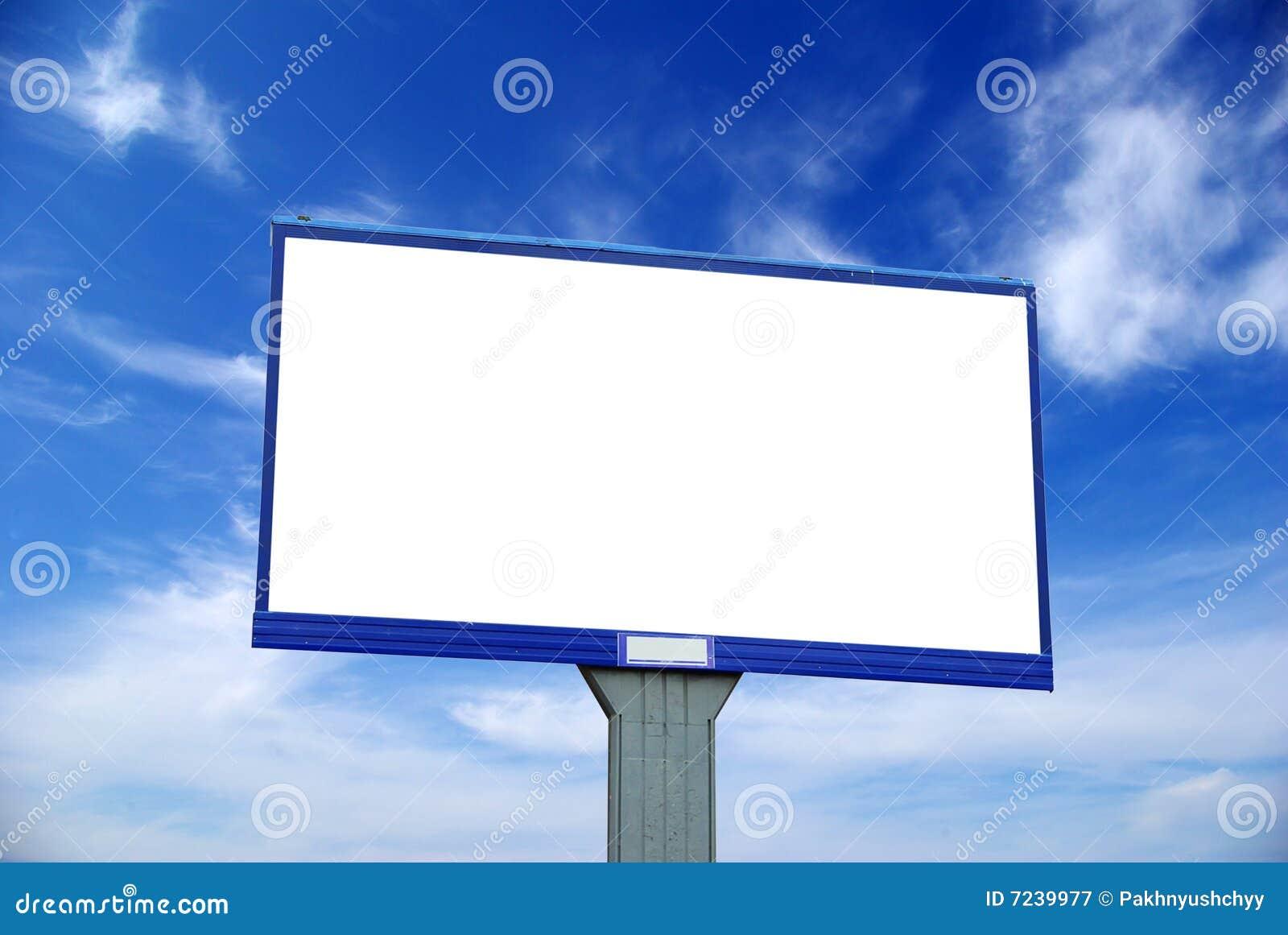 La publicité du panneau-réclame