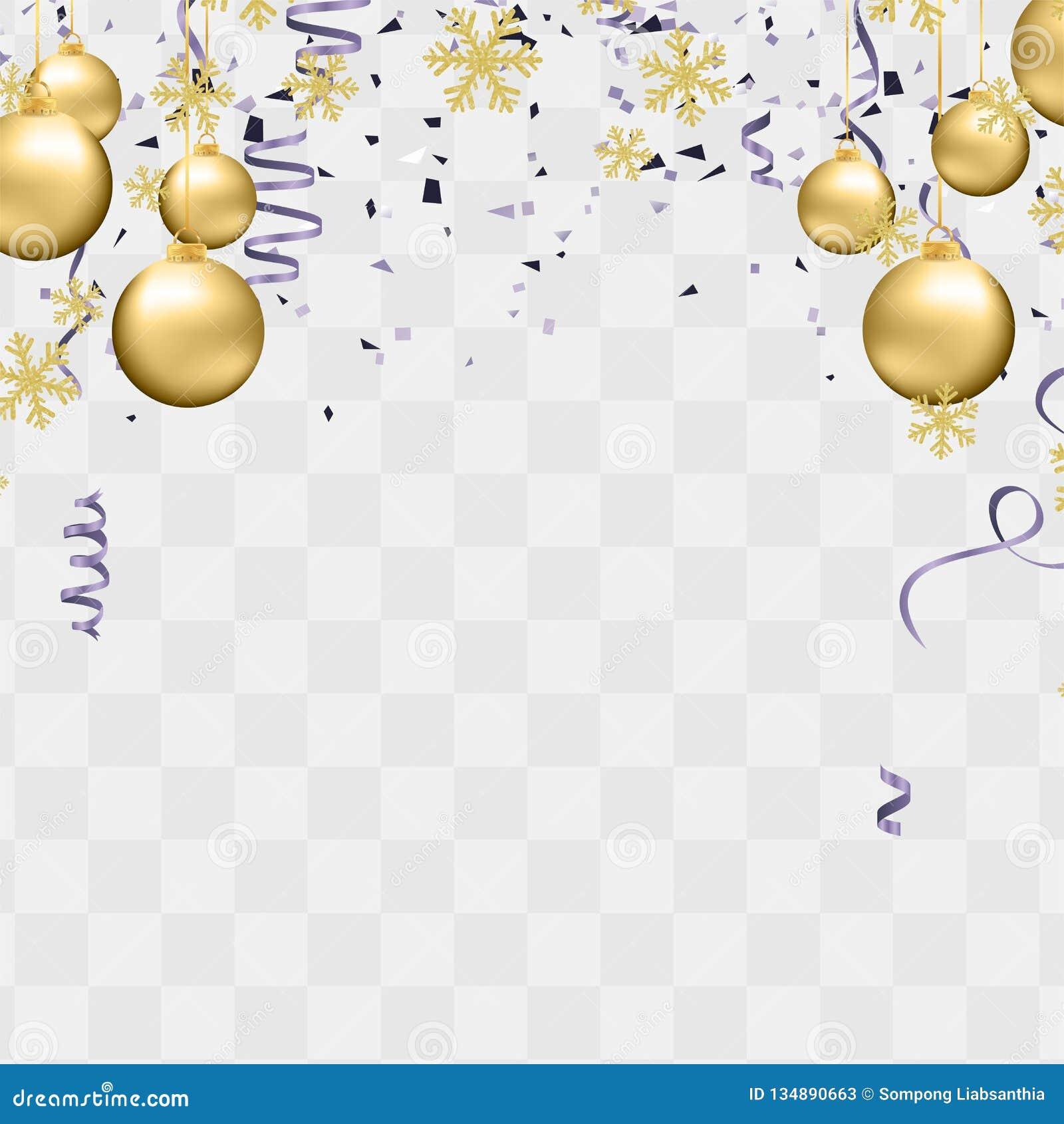 La réception monte en ballon l illustration Rubans de drapeau de confettis et de rubans, joyeuse affiche de Noël de fête de Noël