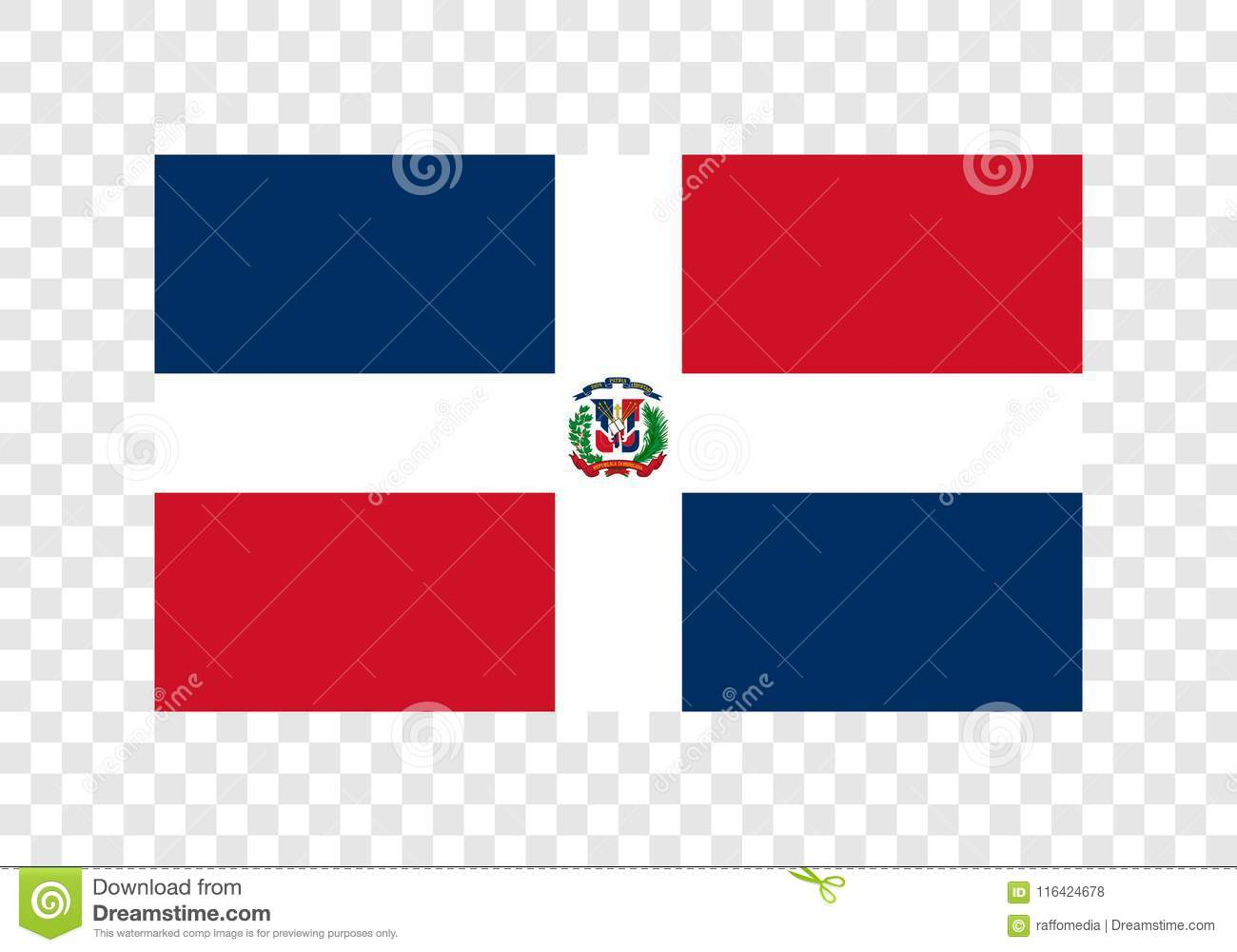 La République Dominicaine - drapeau national