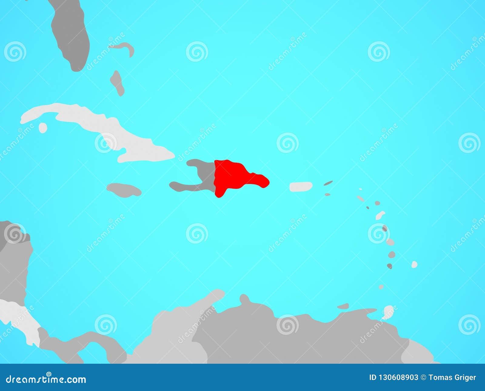 La République Dominicaine sur la carte