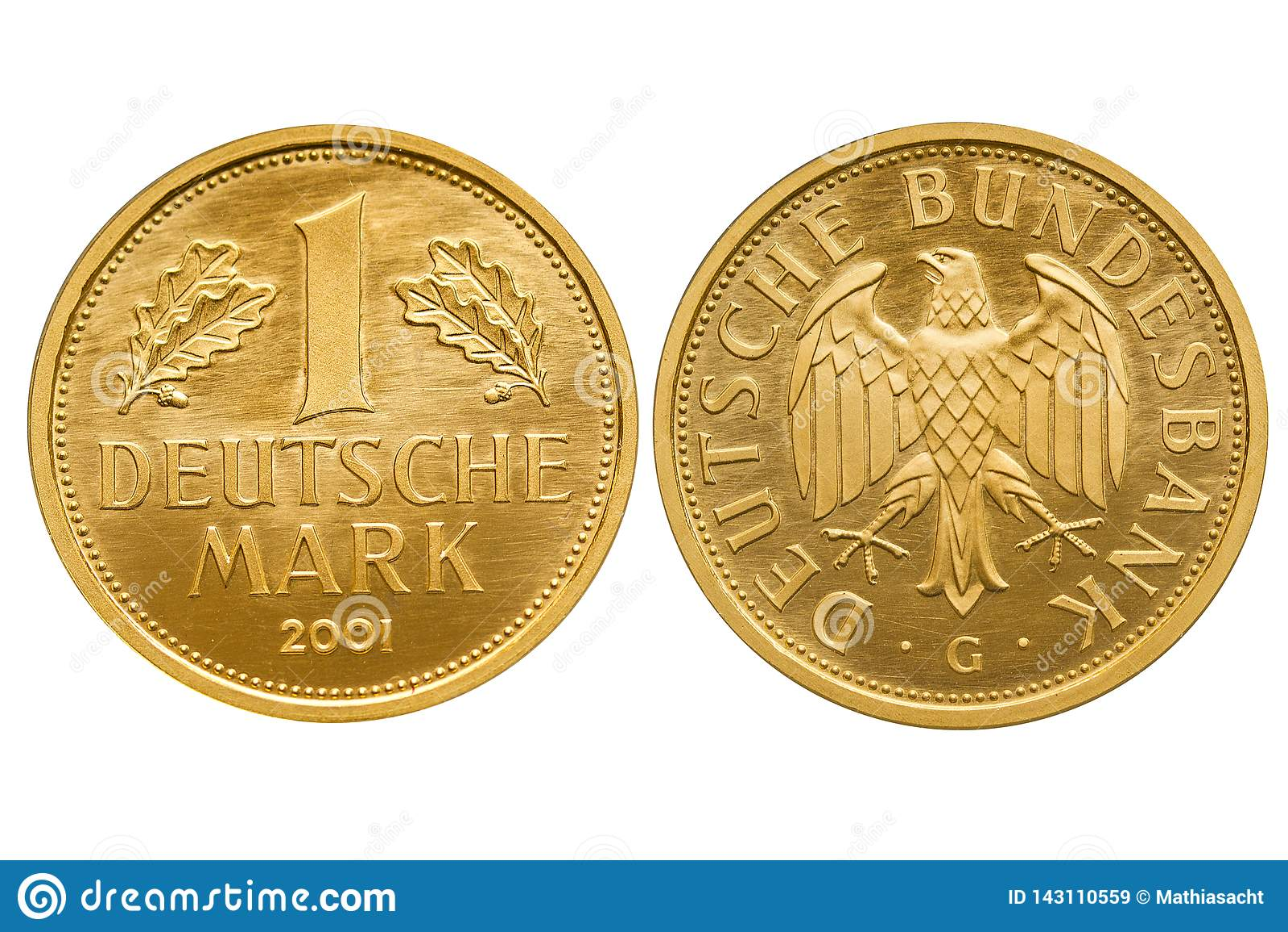 La république Fédérale d Allemagne 1 pièce d or de mark 2001
