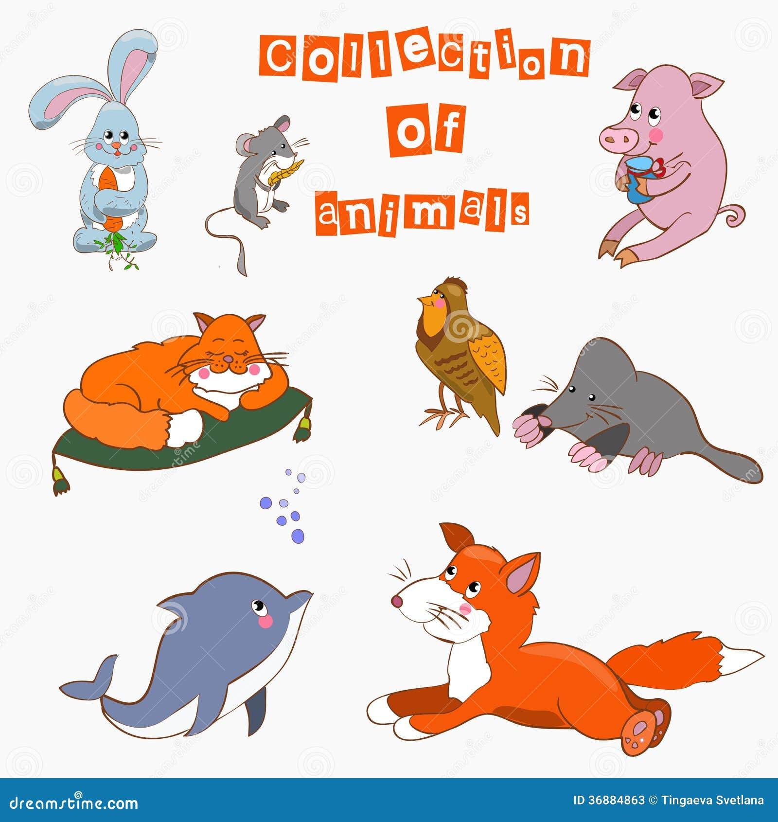Download La Raccolta Del Cartoo Degli Animali Illustrazione Vettoriale - Illustrazione di gatti, pets: 36884863