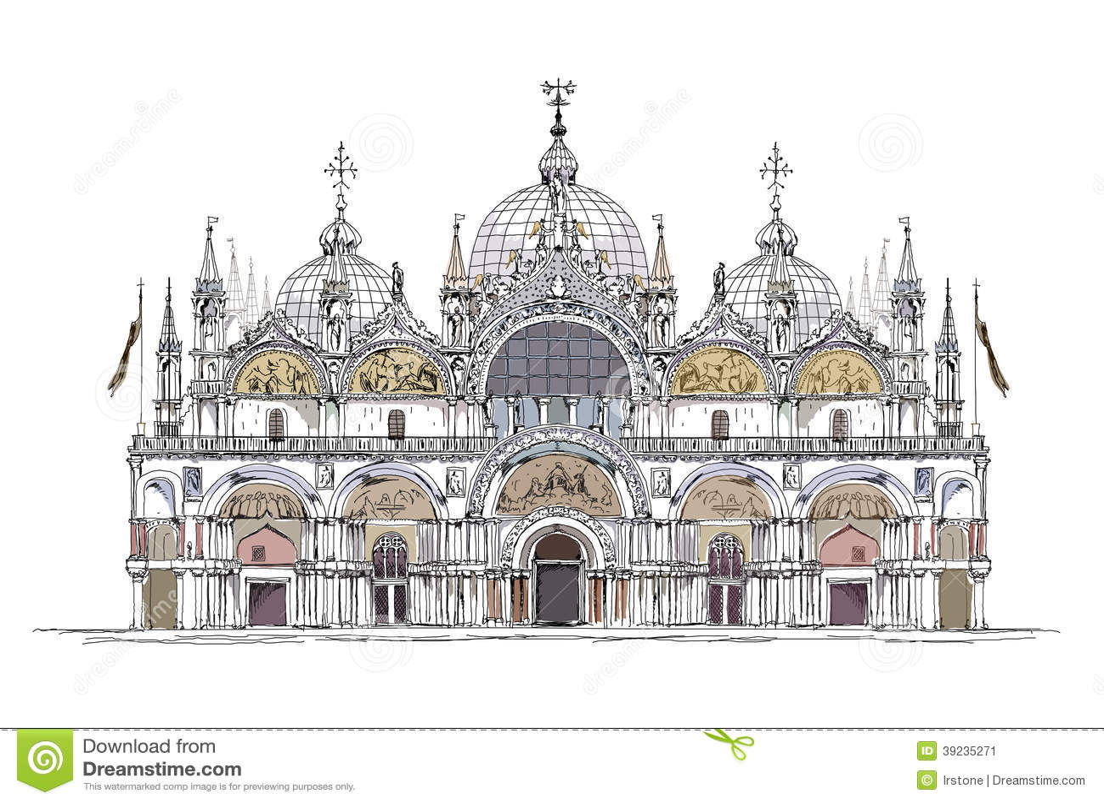 la raccolta di schizzo di venezia san marco ha dettagliato l 39 illustrazione illustrazione. Black Bedroom Furniture Sets. Home Design Ideas