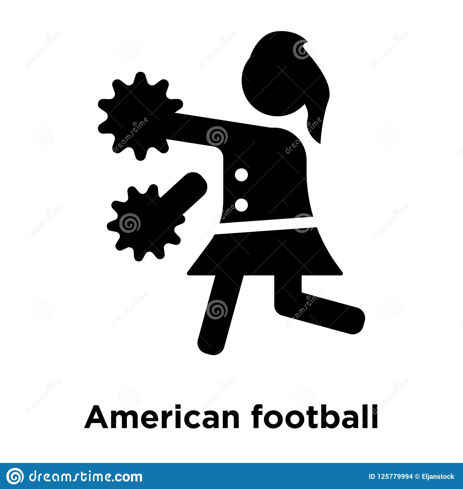La ragazza pon pon di football americano salta il vettore dell icona isolata su bianco