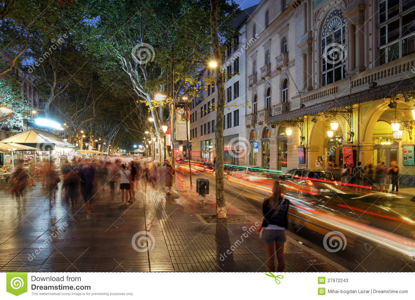 La Rambla, Barcelona, Spain Editorial Stock Photo - Image: 27972243
