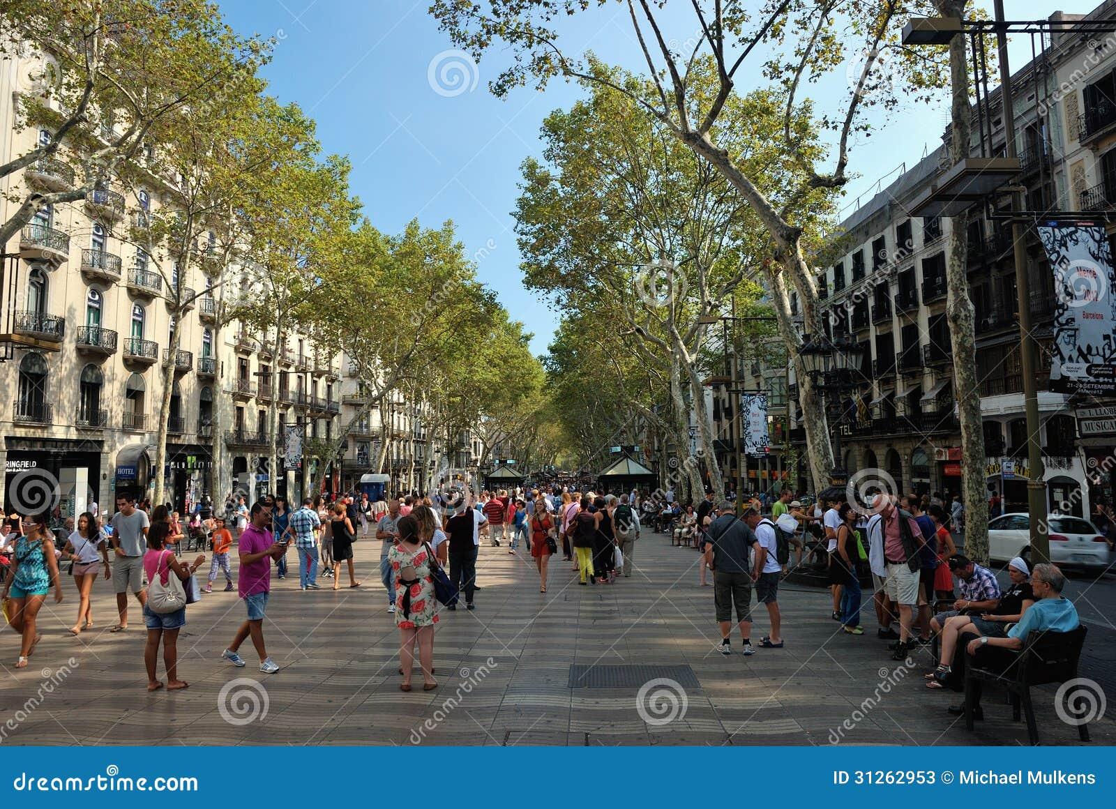 La Rambla, Barcelona Editorial Stock Photo - Image: 31262953