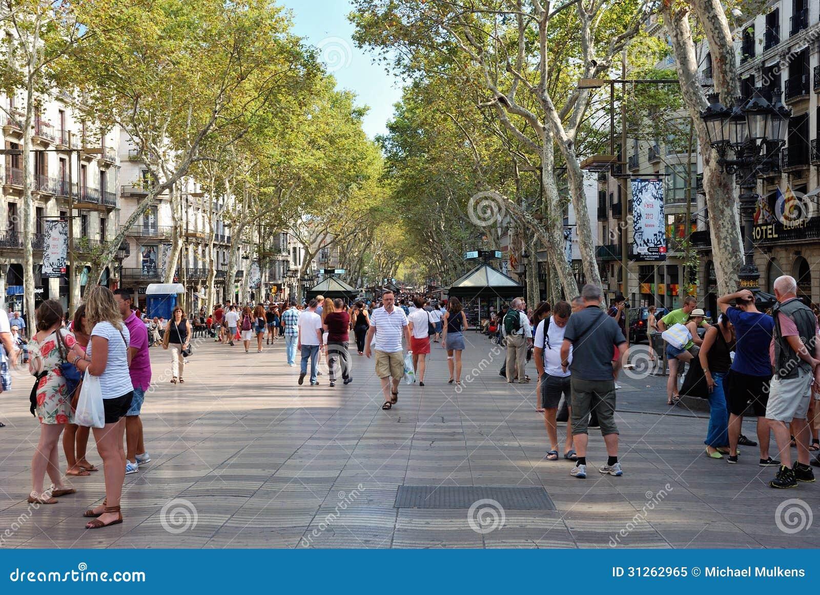 La Rambla, Barcelona Editorial Image - Image: 31262965