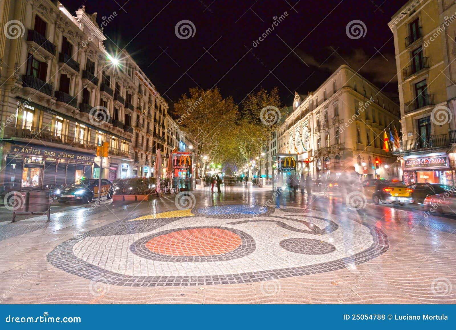 La rambla di barcellona spagna fotografia stock for Spagna barcellona