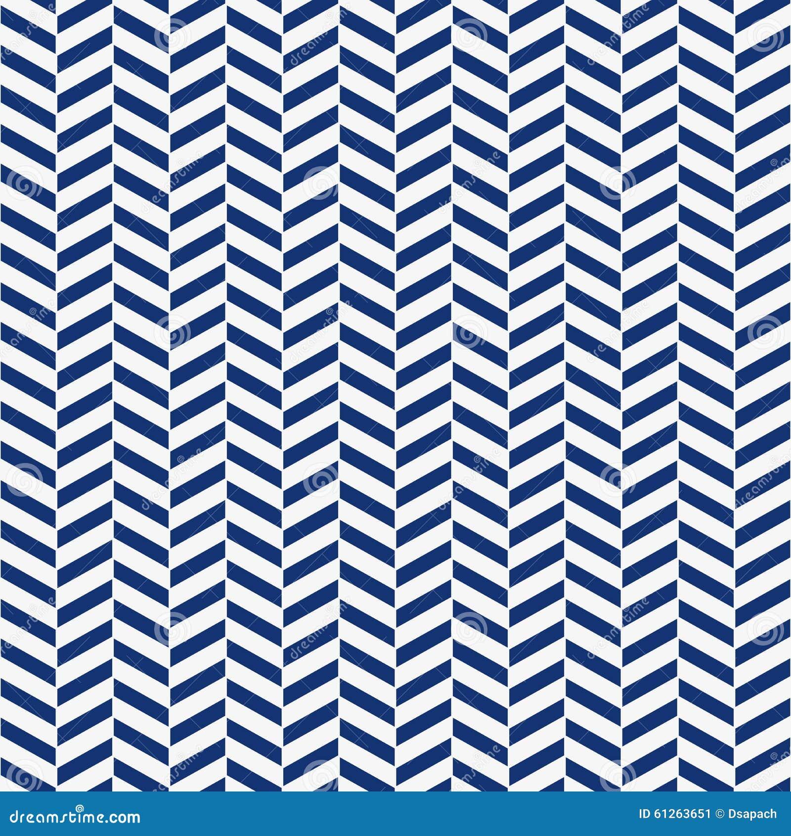 La raspa de arenque inconsútil de los azules añiles y del blanco de la porcelana modela vector