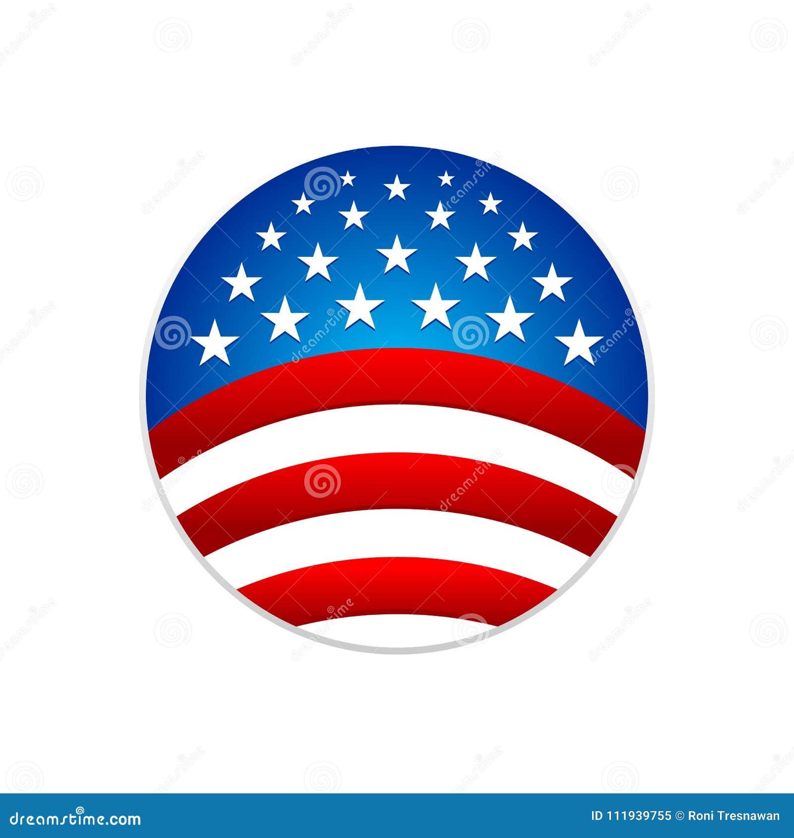 La rayure circulaire de drapeau national tient le premier rôle le symbole Logo Design