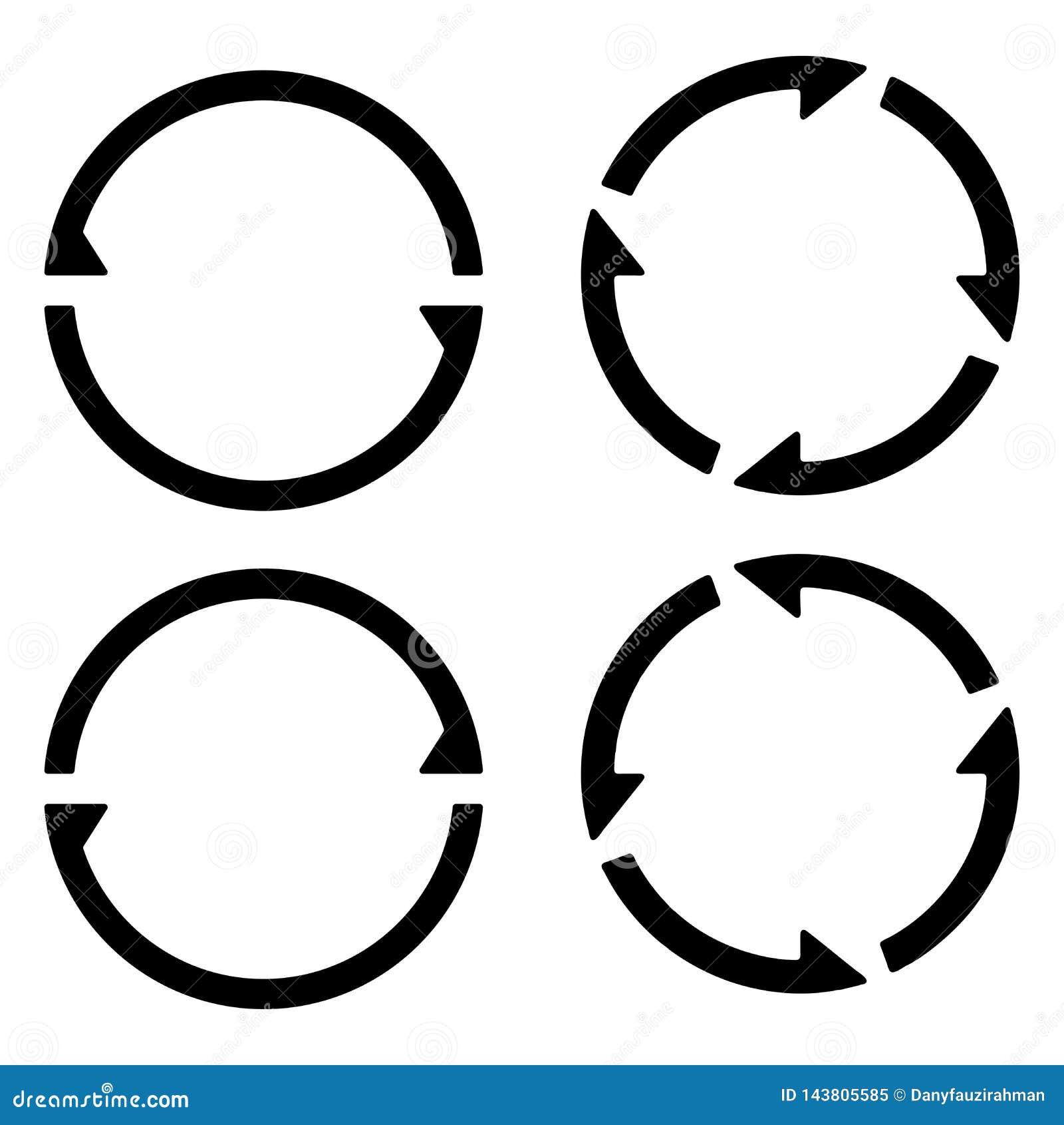 La recarga de la muestra del sistema restaura el icono, haciendo girar flechas en un círculo, sincronización del símbolo del vect