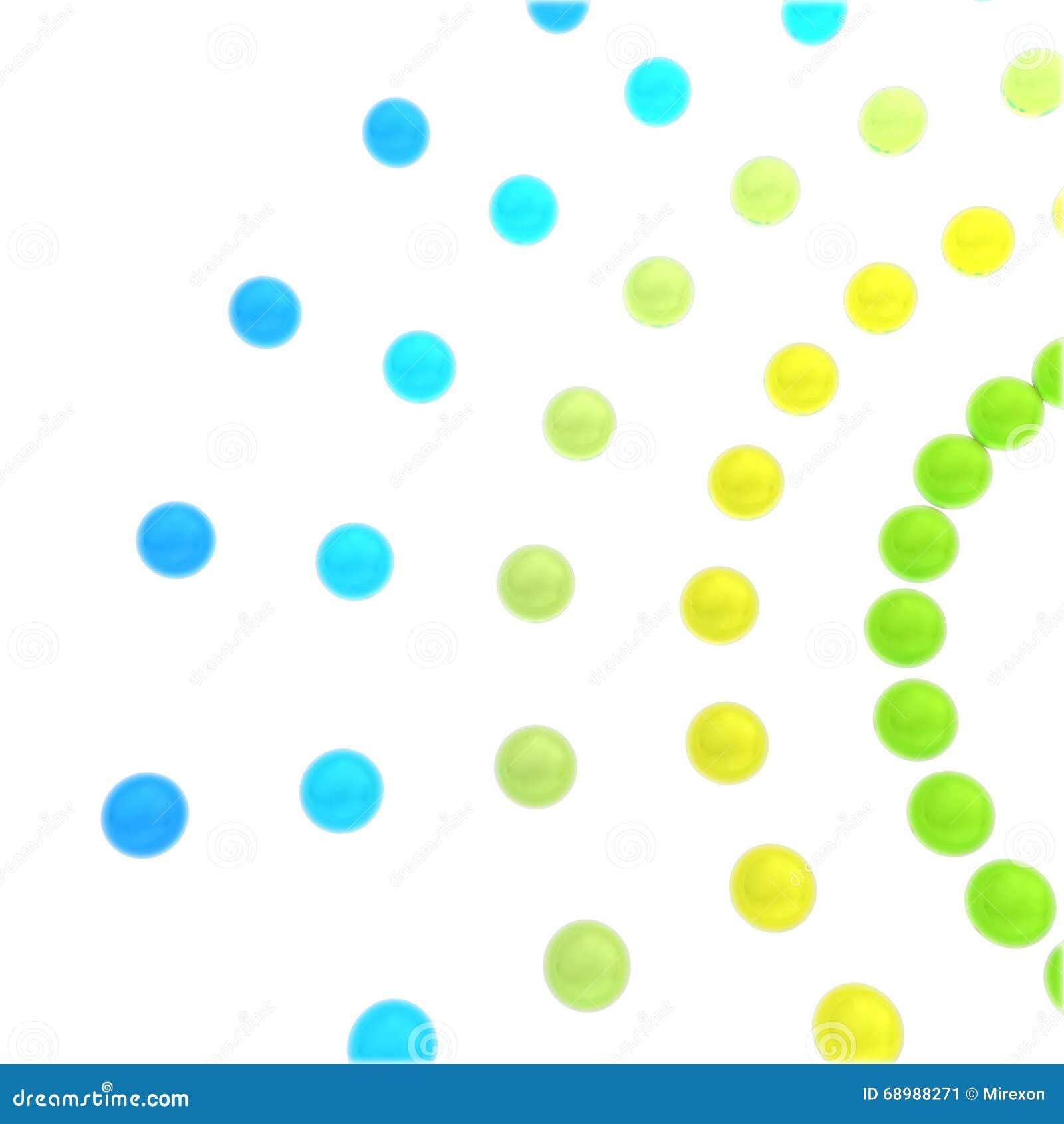 La red abstracta del concepto de cuentas de cristal en un fondo blanco