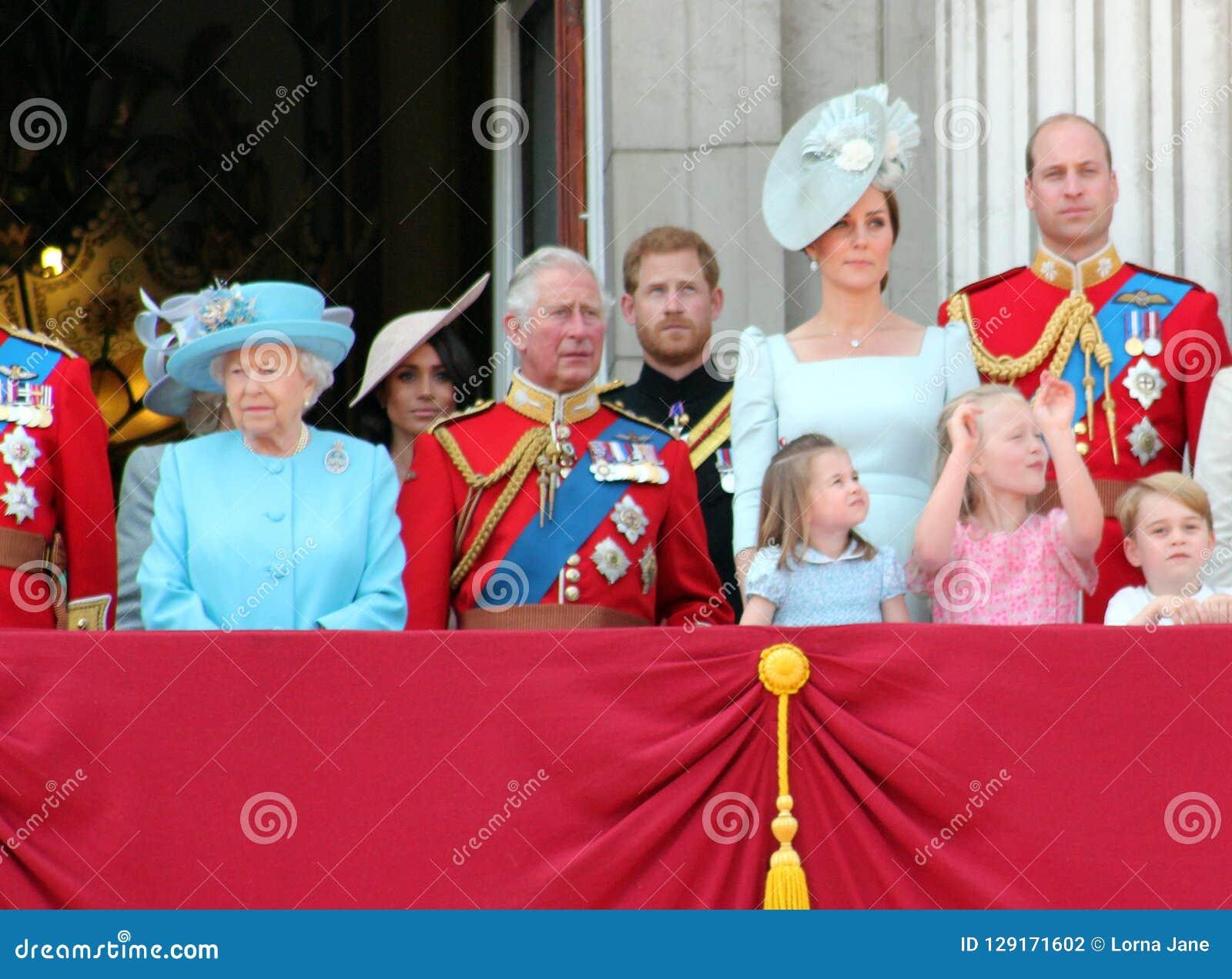 La Reine Elizabeth, Londres, R-U, juin 2018 - Meghan Markle, prince Ha
