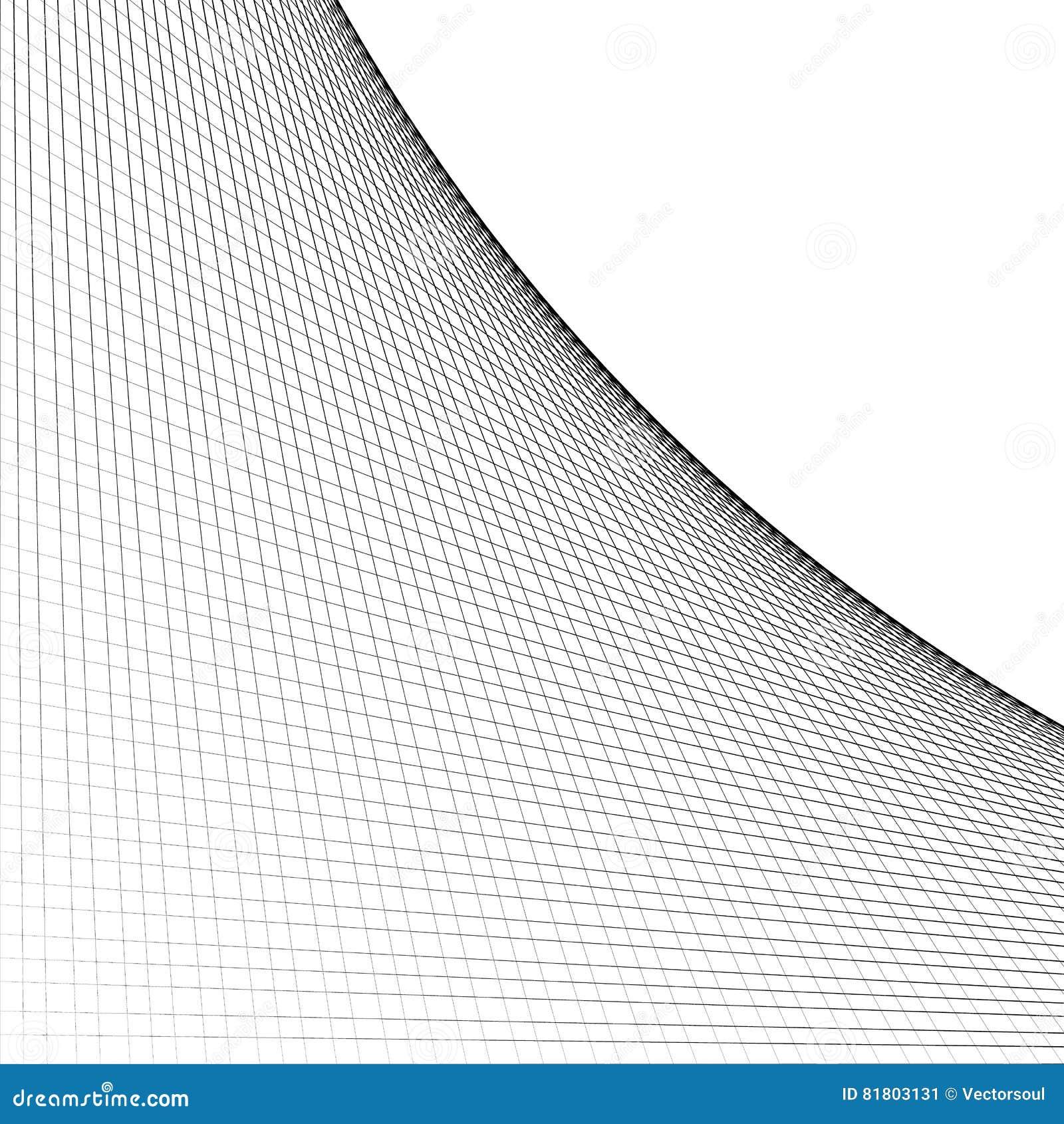 La rejilla, malla de la intersección alinea con la curva, arco que se separa de