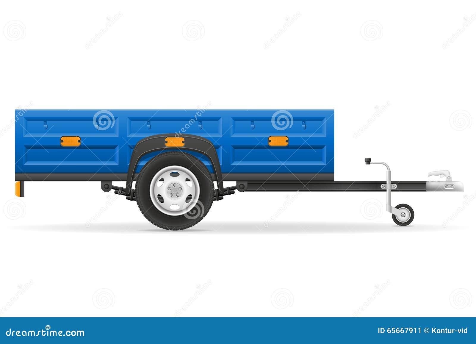 la remorque de voiture pour le transport des marchandises dirigent l 39 illustration illustration. Black Bedroom Furniture Sets. Home Design Ideas
