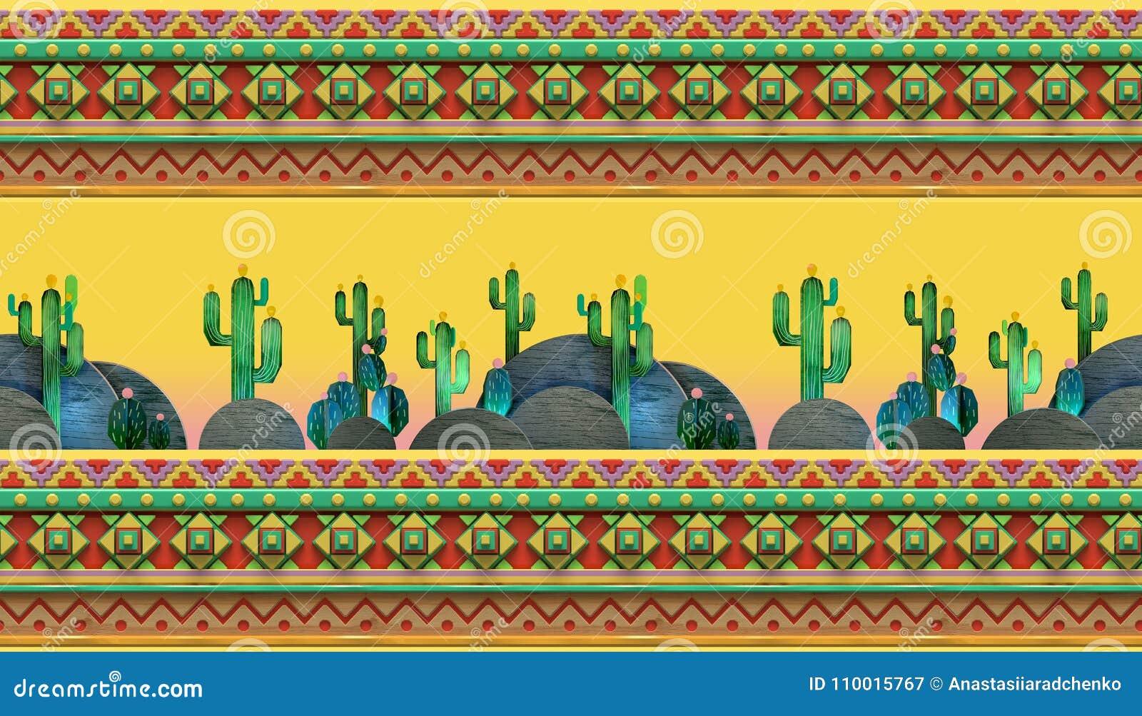82b616d7447e0 La Representación 3d De La Historieta Estilizó El Tema Mexicano ...
