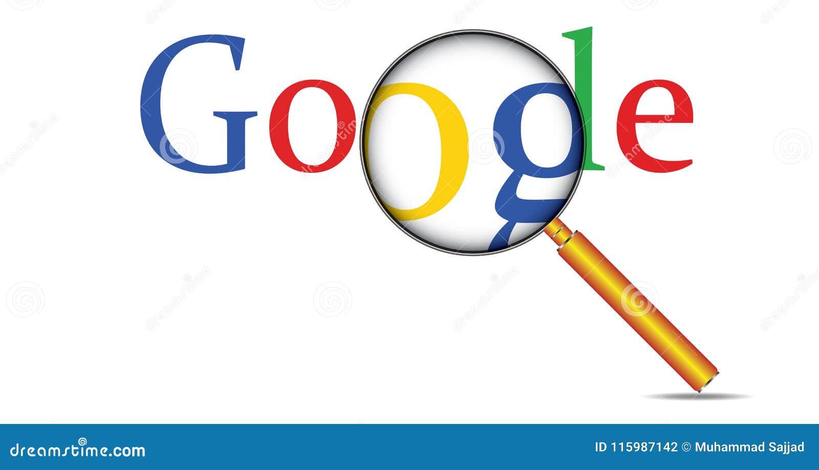 La ricerca Google di Internet di web manda un sms a e lente d ingrandimento