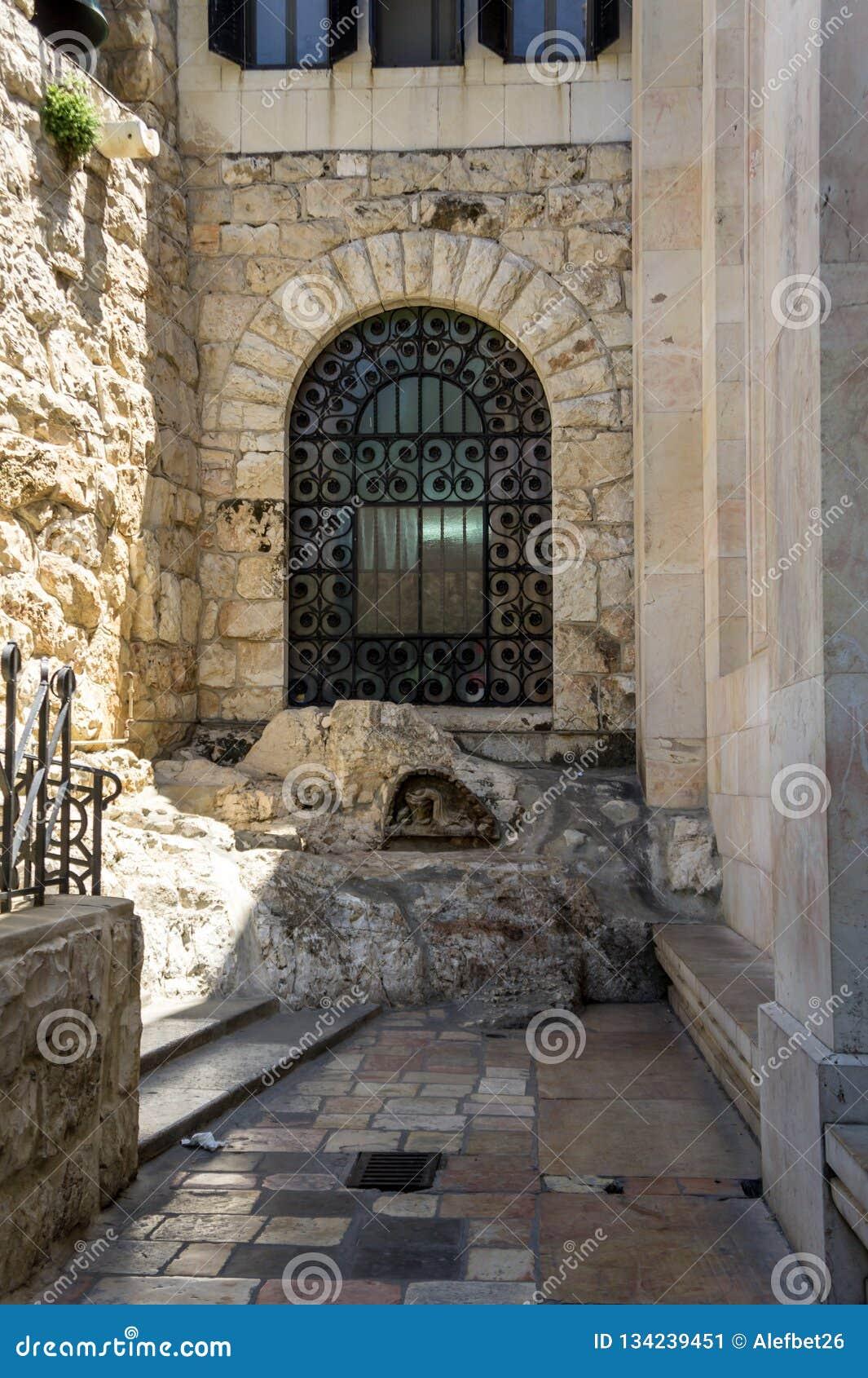 La roccia di agonia a Gerusalemme, Israele